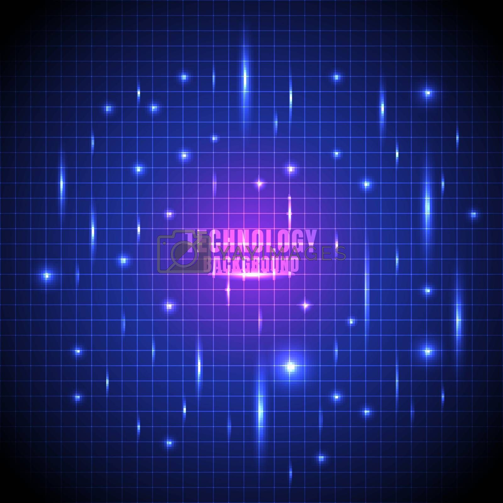 Abstract technology futuristic glow line grid with laser light blue background. Vector illustration