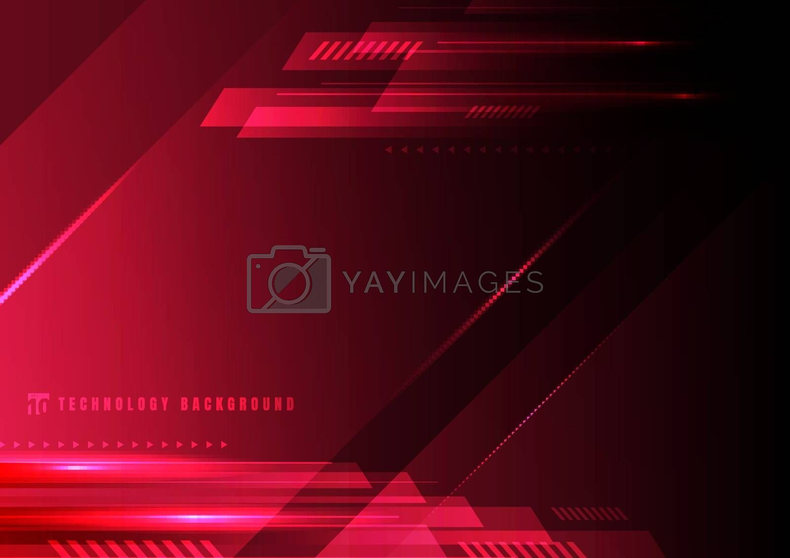 Abstract technology geometric red and black color shiny motion background. Template with header and footer for brochure, print, ad, magazine, poster, website, magazine, leaflet, annual report. Vector corporate design
