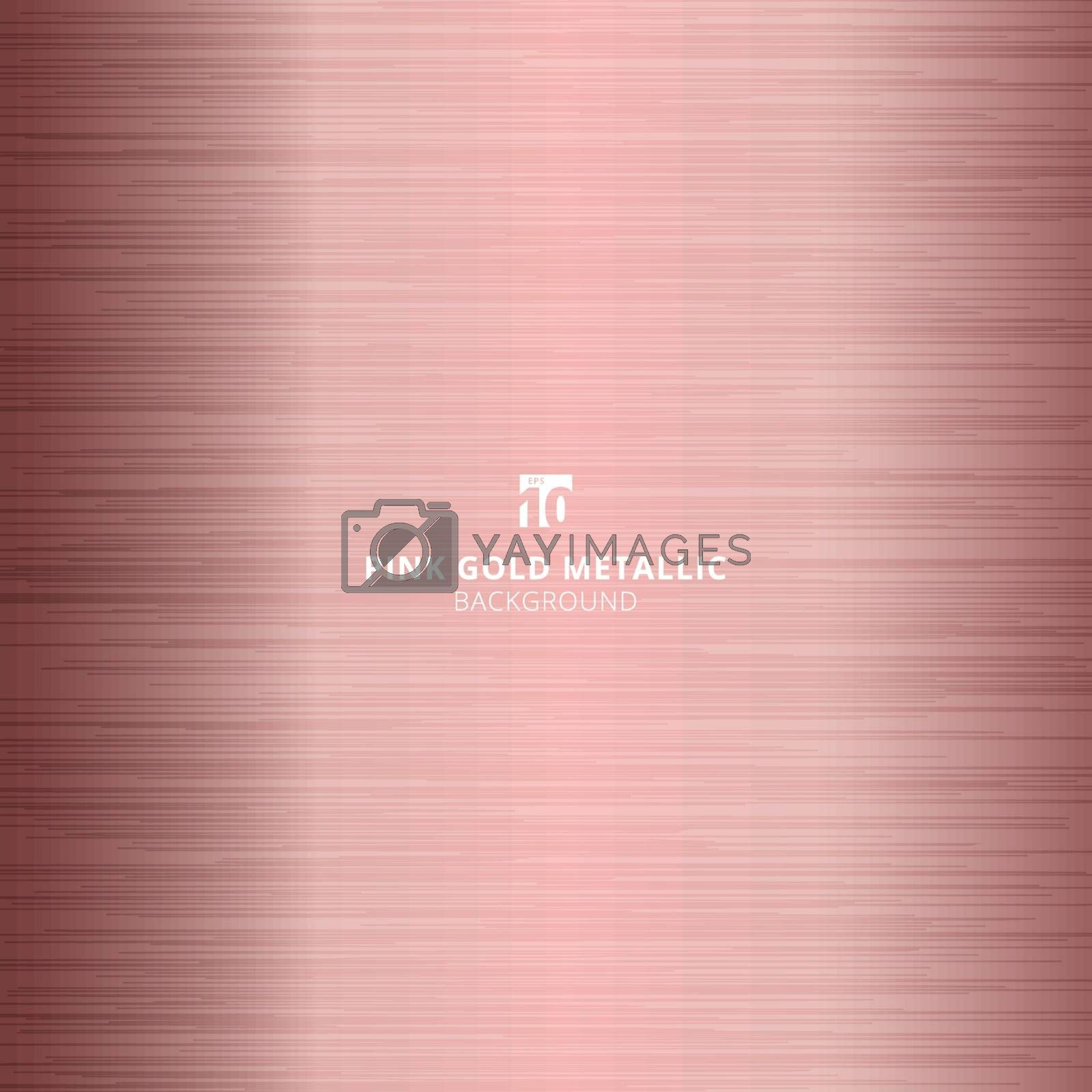 Pink gold metallic metal polished background and texture. Vector illustration