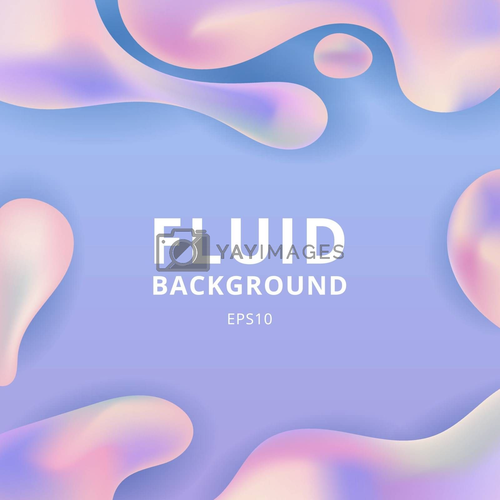 Abstract trendy fluid or liquid shape pastel color background with space for your text. Vector illustration
