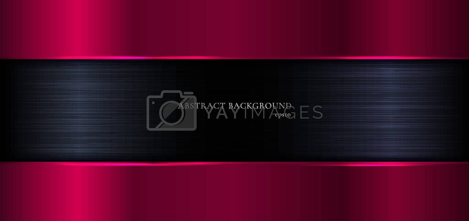 Abstract banner web elegant template geometric pink gradient metallic on black metal background and texture. Luxury style. Vector illustration