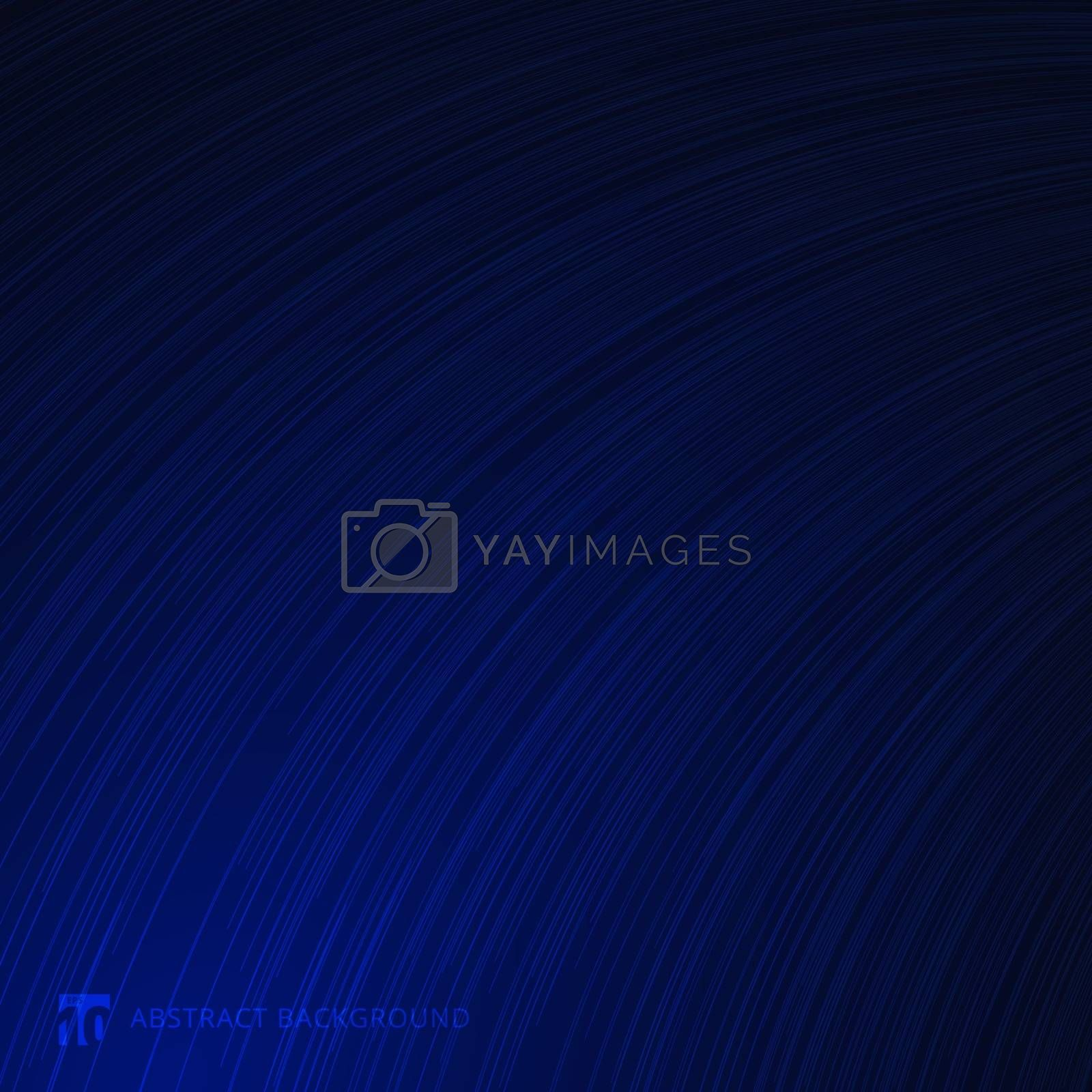 Abstract curve lines texture blue gradient background. Vector illustration