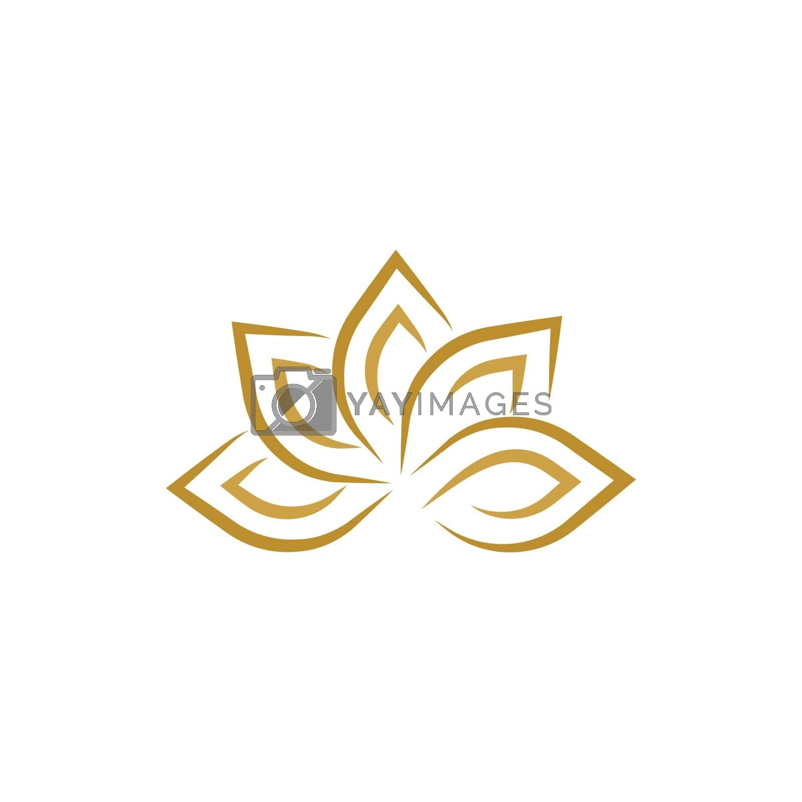 beauty lotus flower vector icon design template