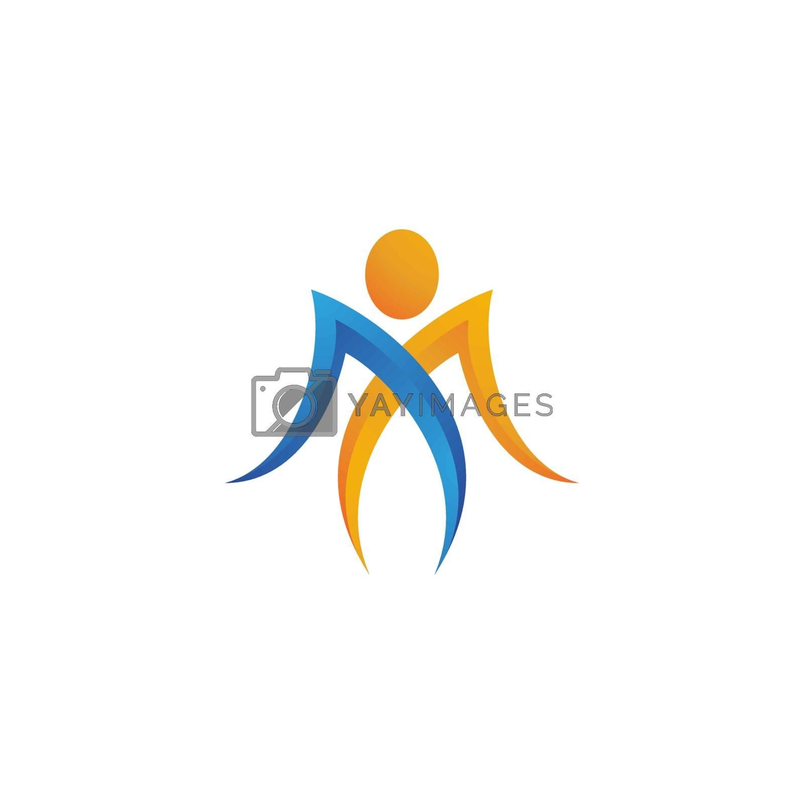 Human character logo sign illustration vector design