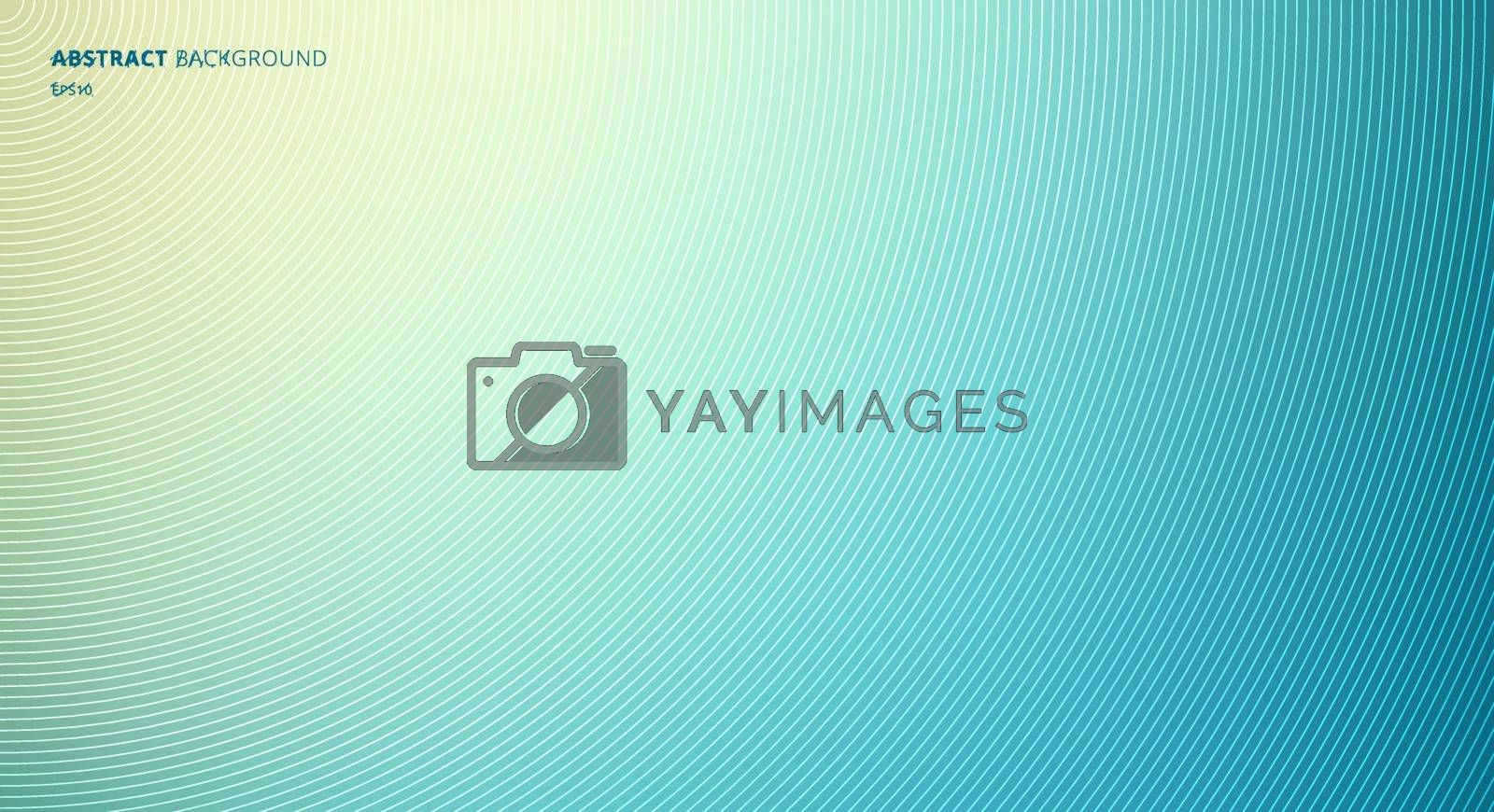 Abstract Blue Blurred Background with Circles Radial Texture. Vector Illustration