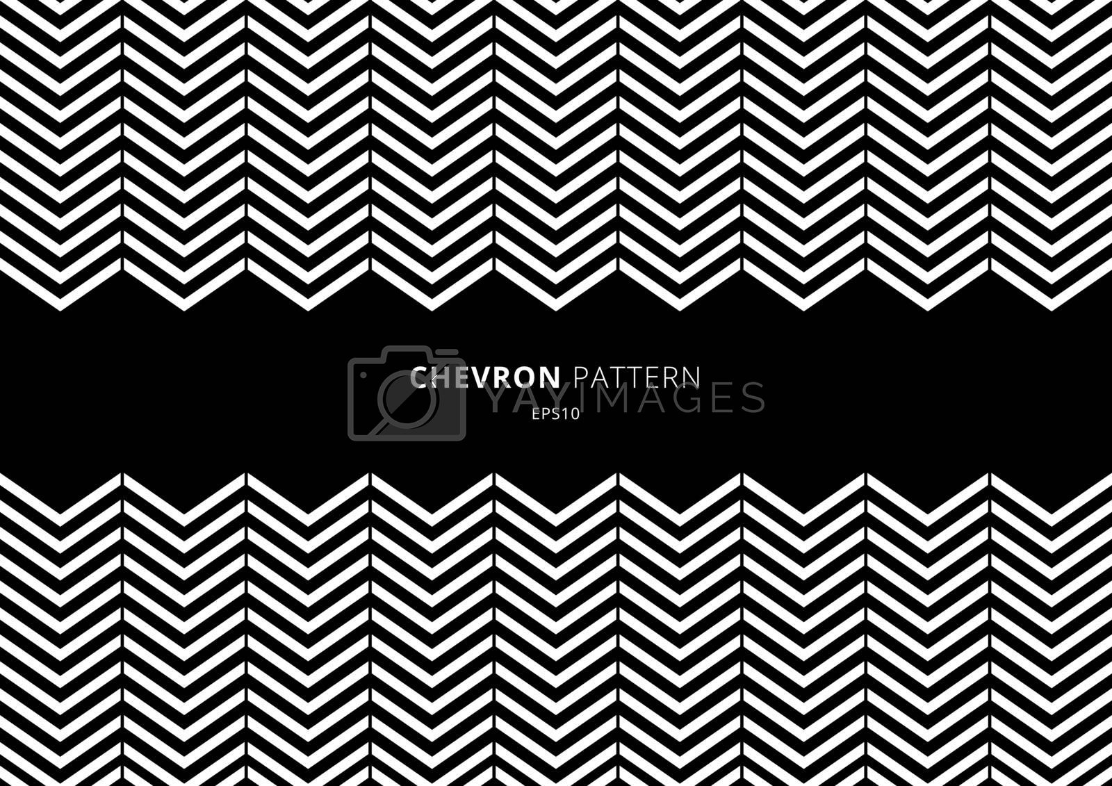 Black and white chevron pattern with space for your text. Vector illustration