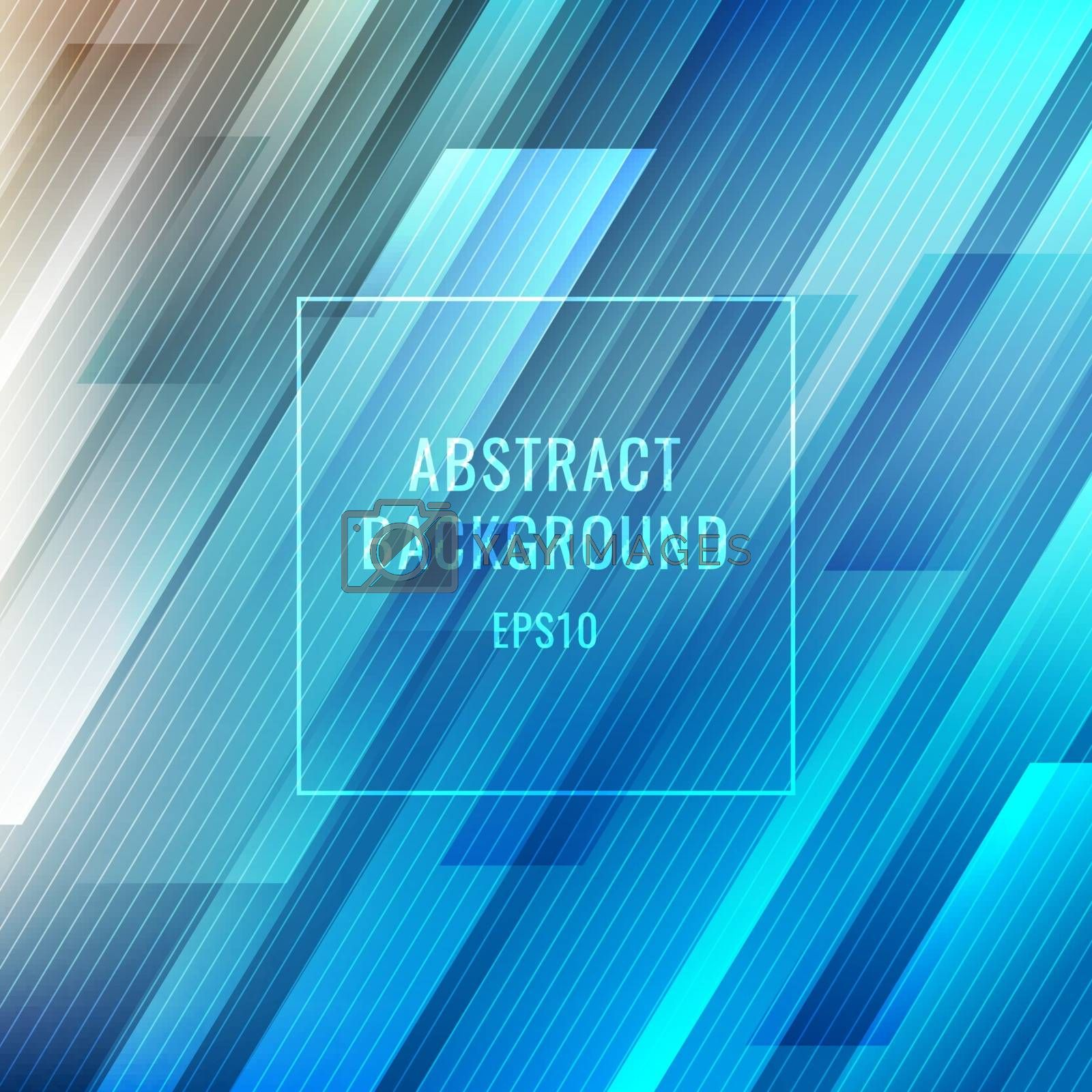 Abstract blue glowing stripes lines diagonal background. Technology digital futuristic concept. Vector illustration