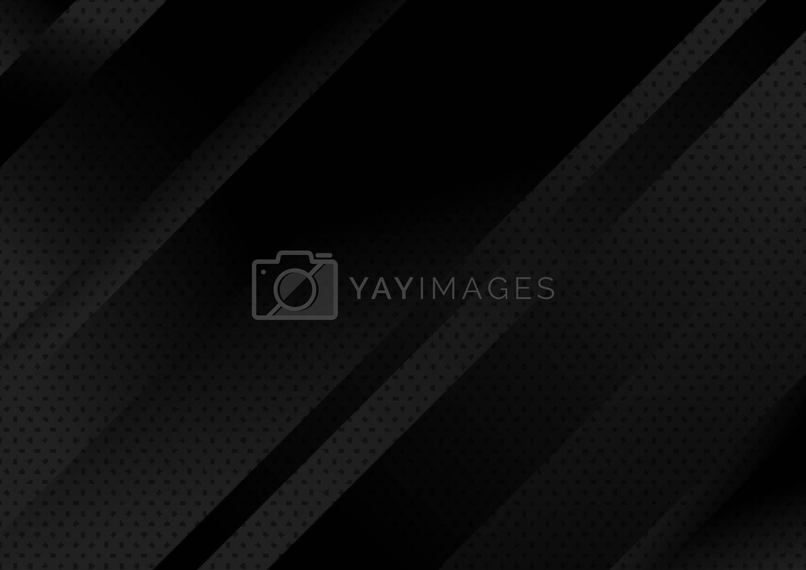 Abstract modern shape black light gradient geometric stripes diagonal background. Vector illustration