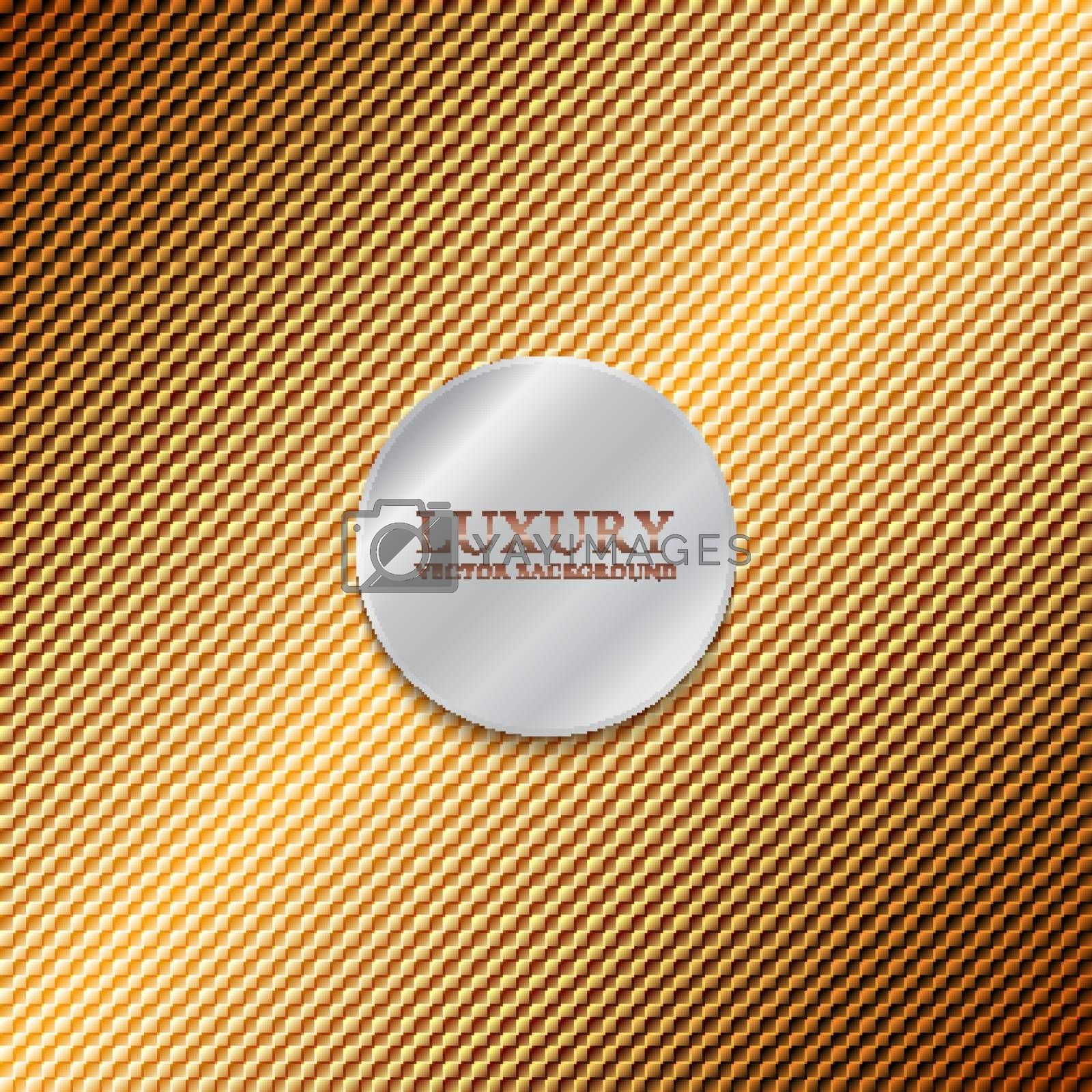 Abstract shiny golden mosaic background and texture. You can use for template luxury style, brochure, poster, flyer, banner web, etc. Vector illustration