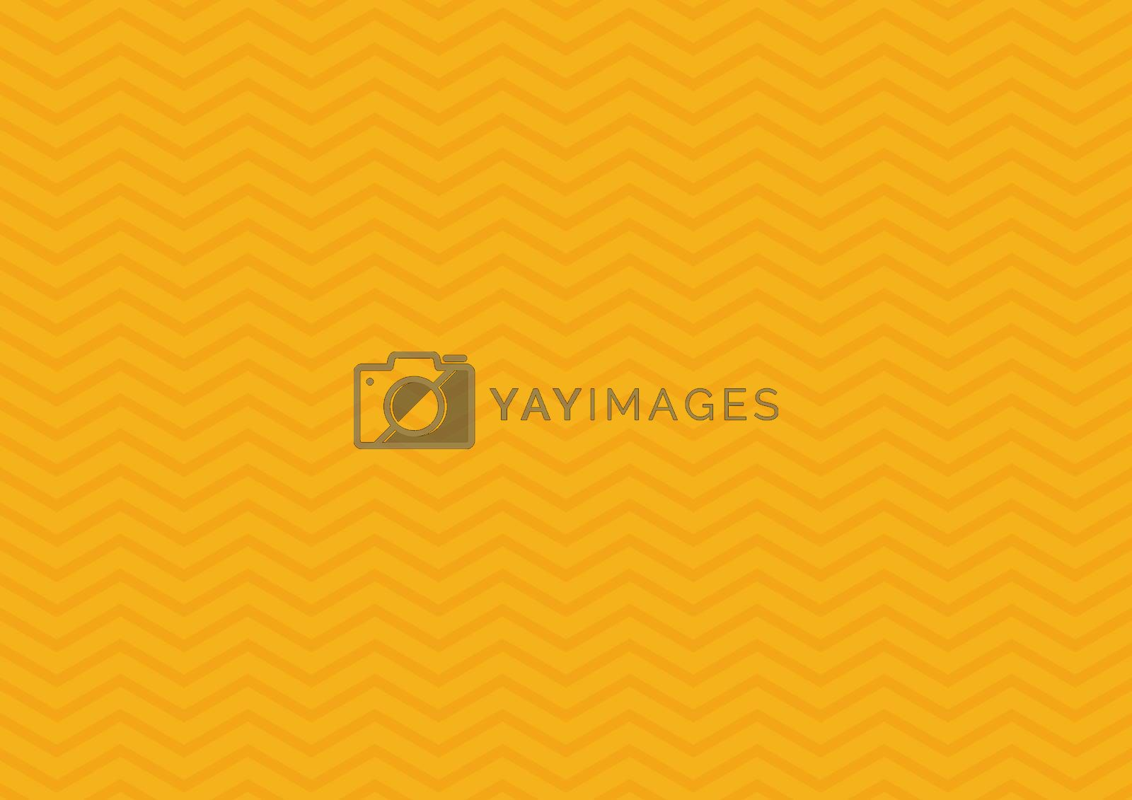 Abstract seamless zig zag line pattern on yellow background. Classic chevron. Vector illustration
