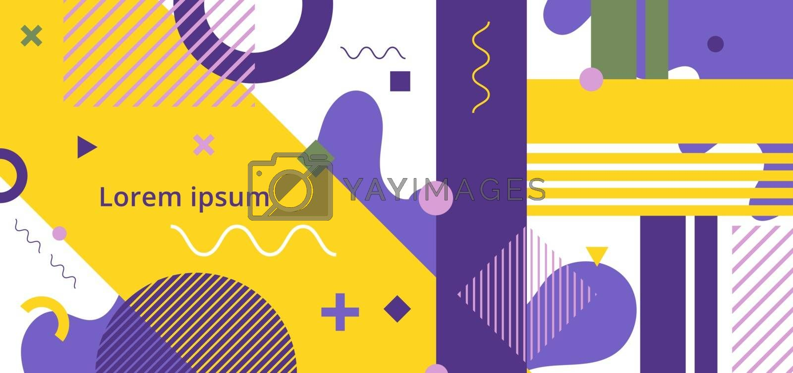 Abstract minimal geometric pattern memphis style white background. You can use for banner web design, presentation, poster, cover brochure, template, etc. Vector illustration