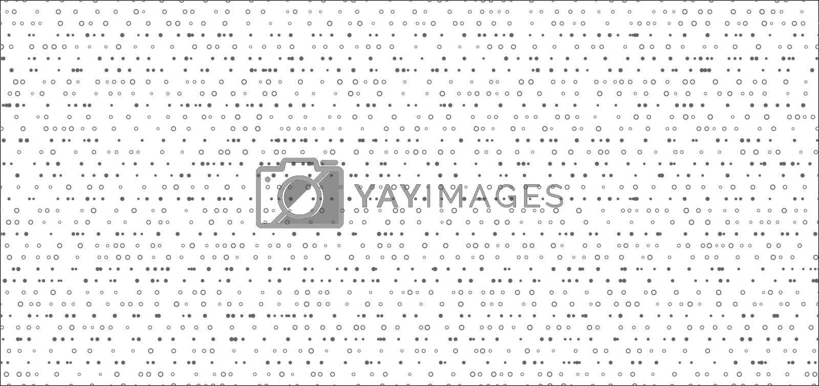 Abstract random dots gray pattern on white background and texture. Vector illustration