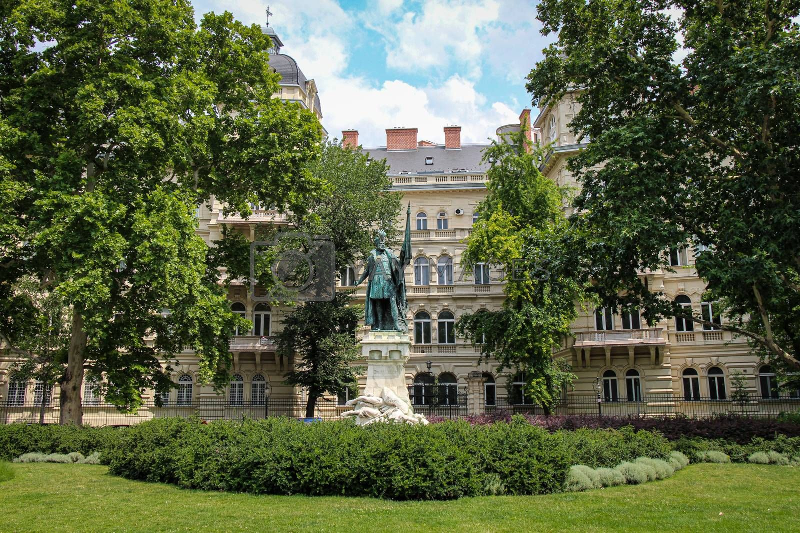 Budapest, Hungary - June 28th 2013: The statue of Zrínyi Miklós at Zoltán Kodály Memorial Museum, Budapest, Hungary