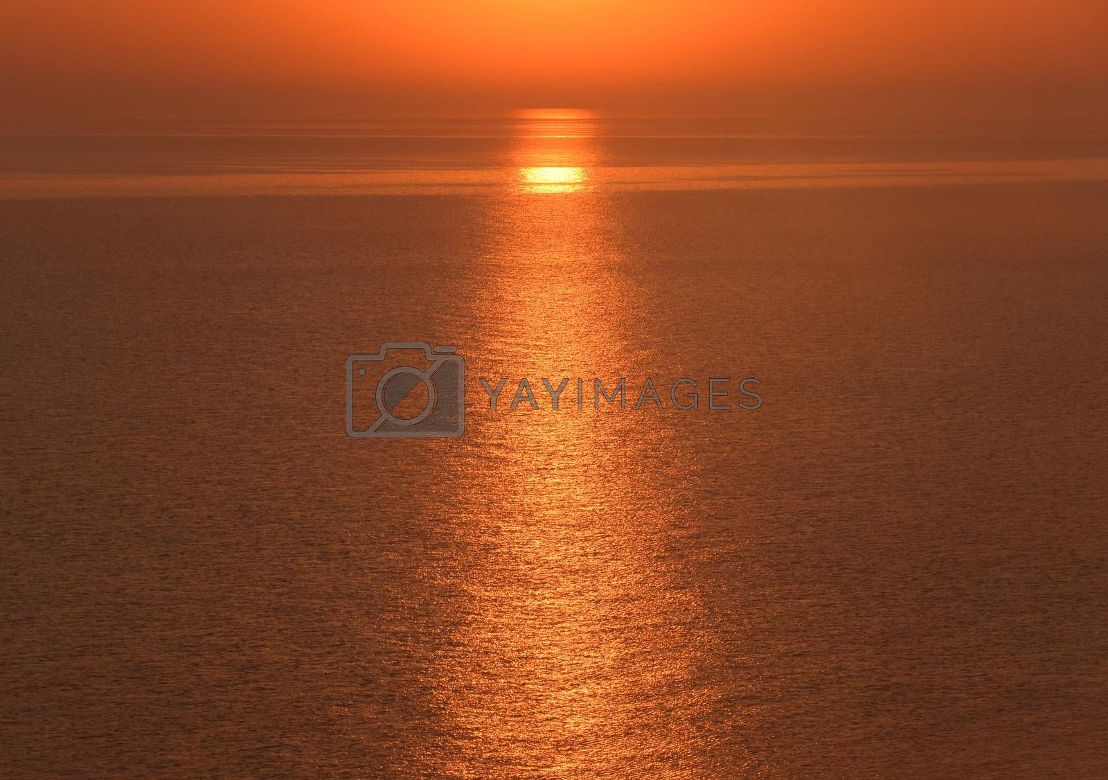 Dawn over the sea. Sea of Azov. Sunrise