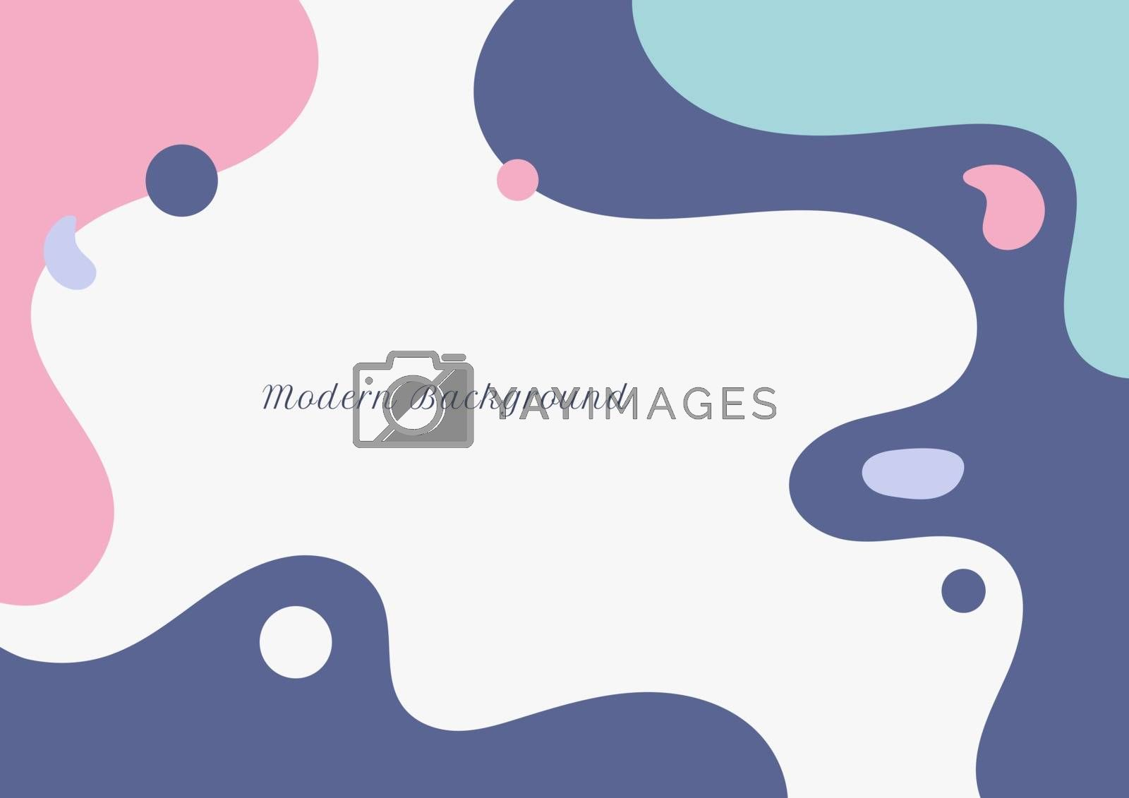 Abstract modern fluid pastel color on white background flat minimal design. liquid template for brochures, flyers, magazine, business card, branding, banners, headers, book covers, etc. Vector illustration