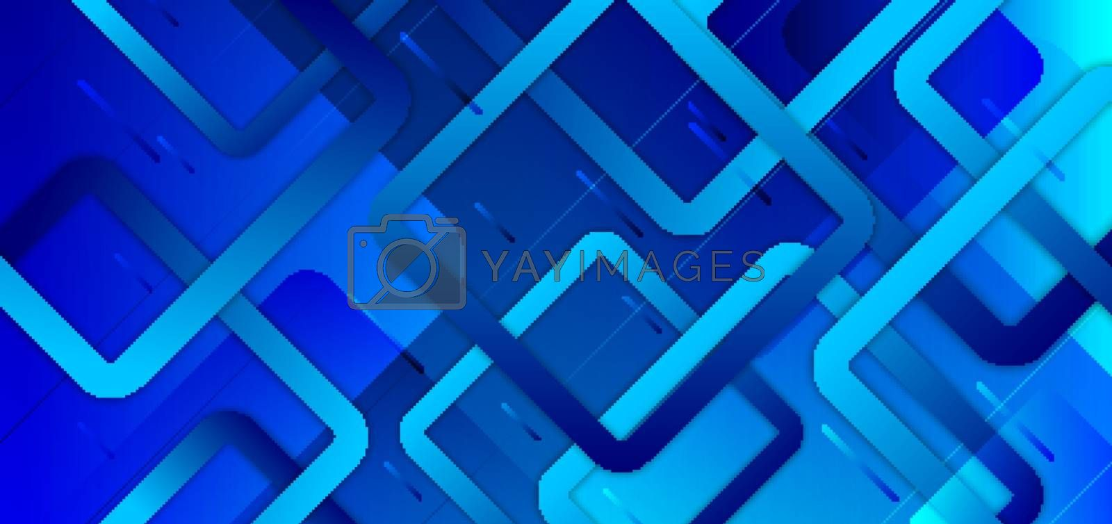 Abstract blue gradient background with geometric squares overlapping creative design technology concept. You can use for banner web, cover brochure, website template, presentation, etc. Vector illustration