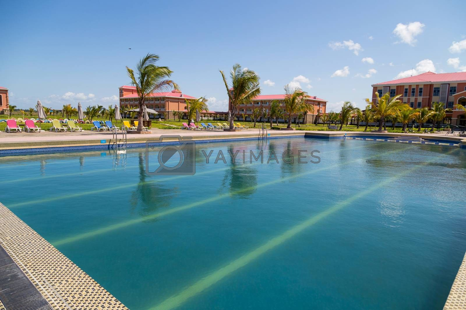 view from swimming pool in mozambique