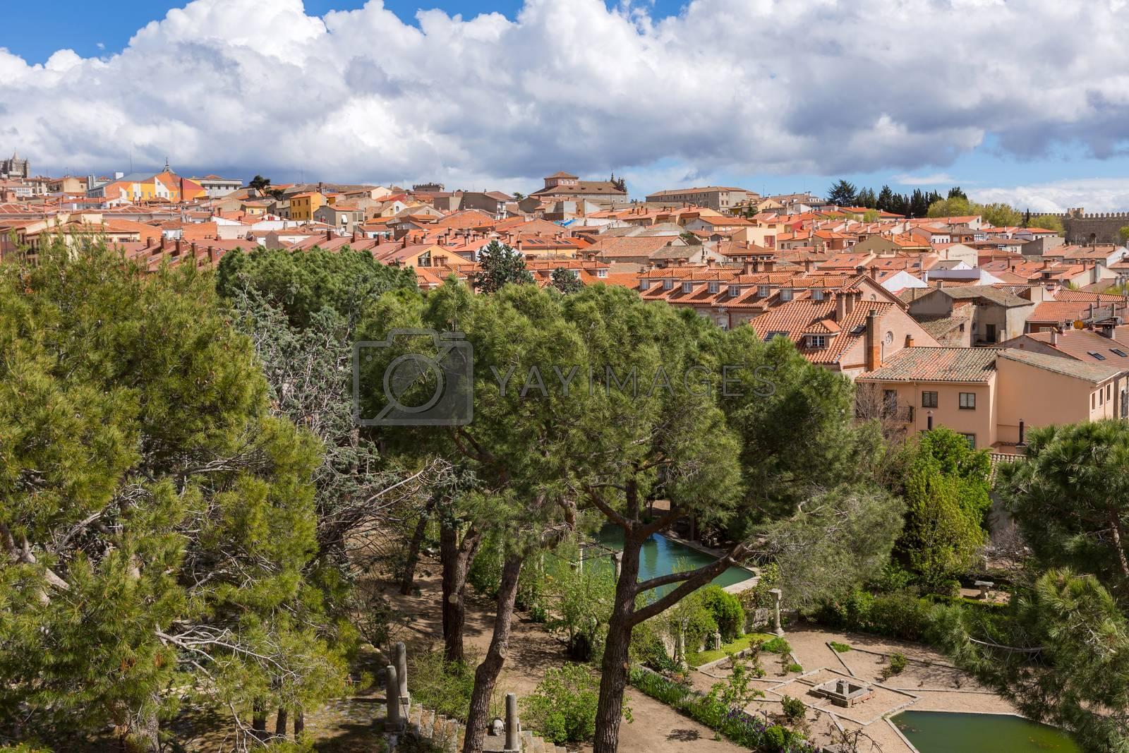 Ancient village of Avila, inside the walls, Castile and Leon, Spain