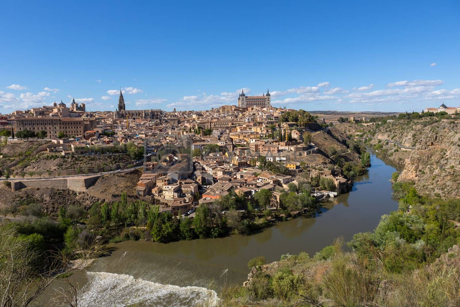 View of Toledo from the Mirador del Valle, Spain