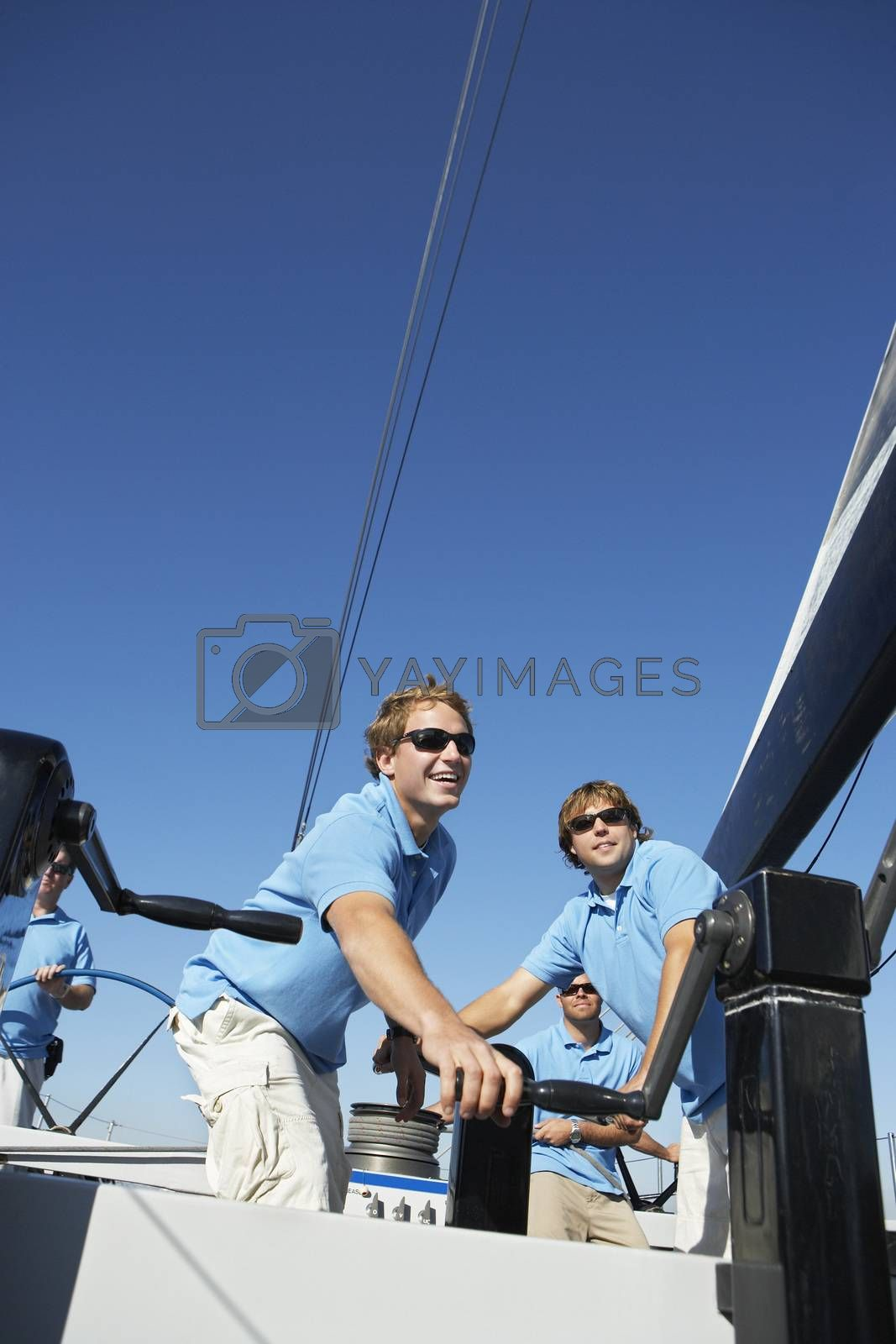 Photo of Sailing team on yacht