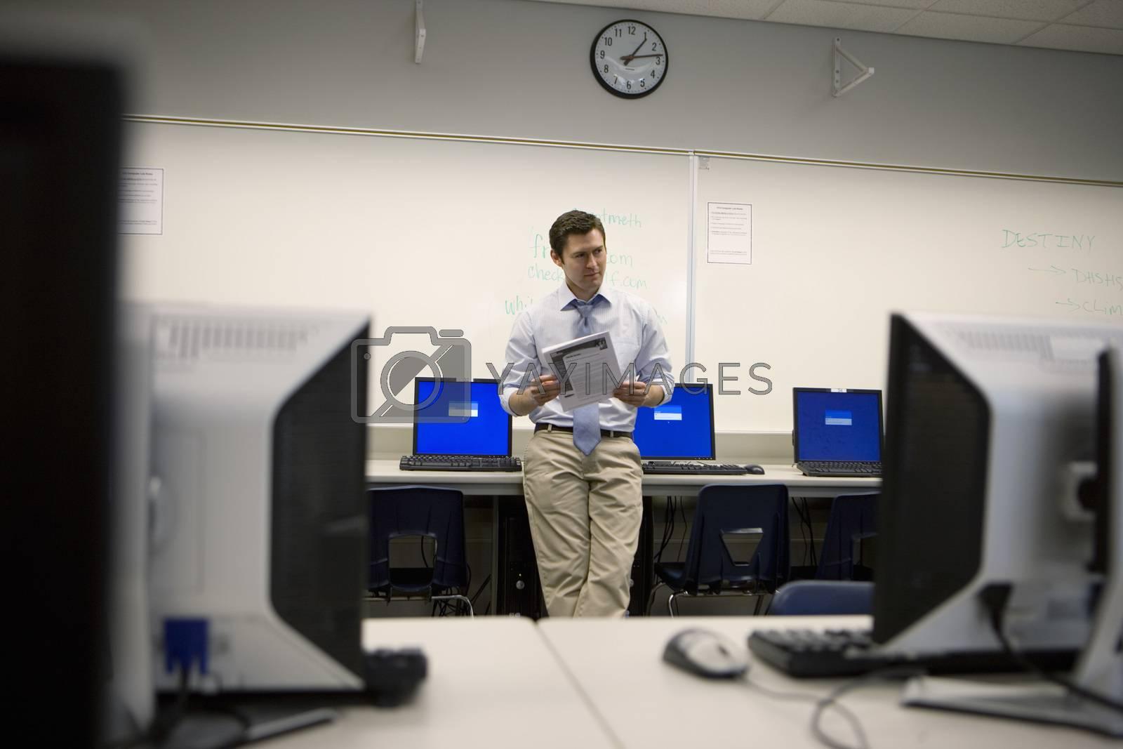 High School Teacher in Computer Lab