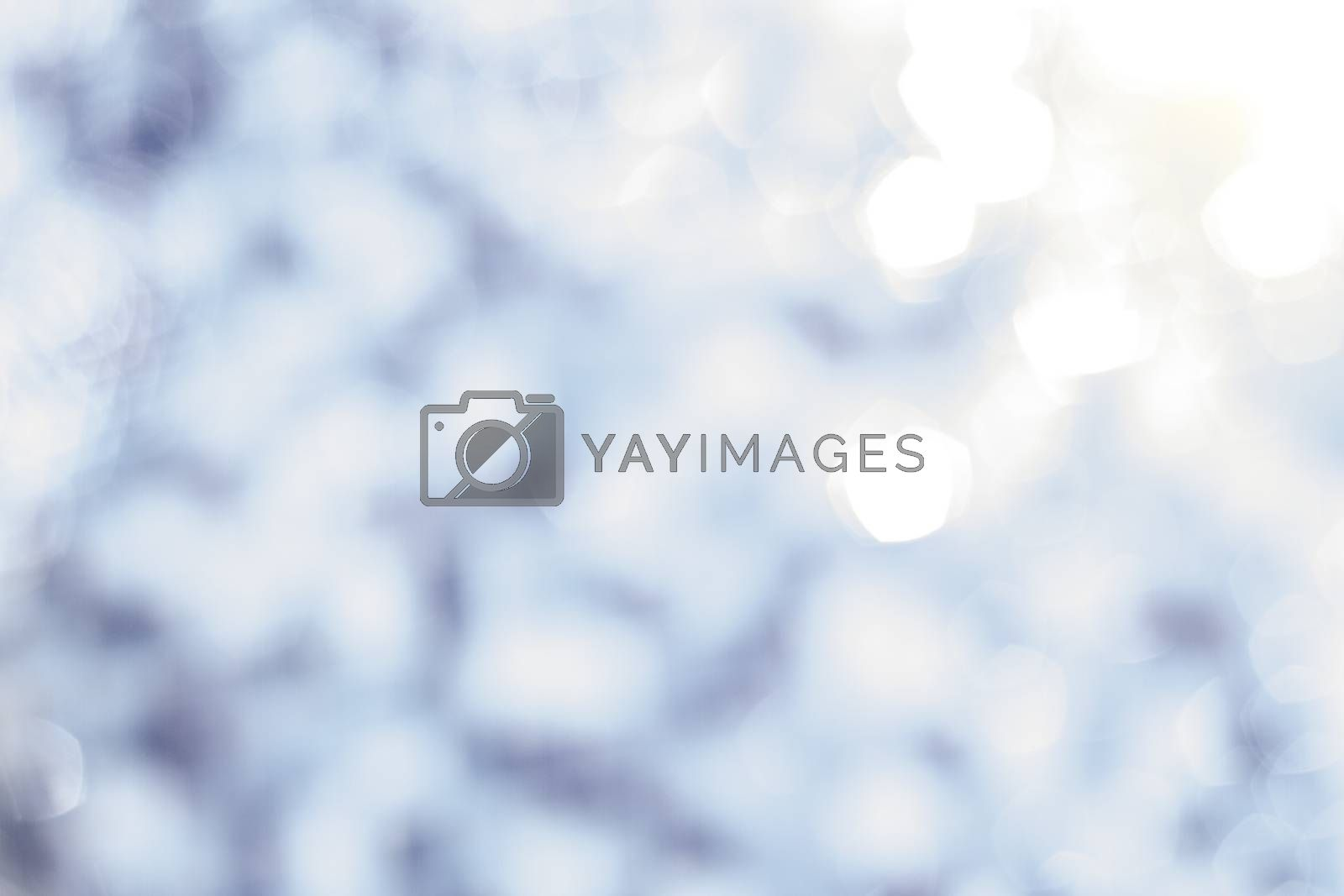 Abstract blur of light and blue background