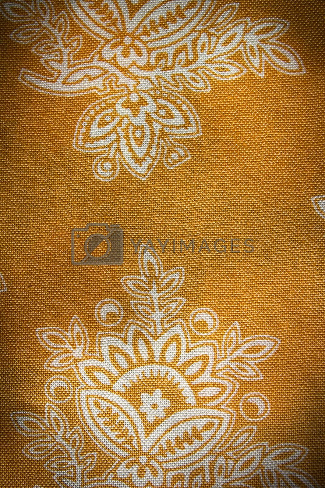 Floral wallpaper texture background, high detail fabric
