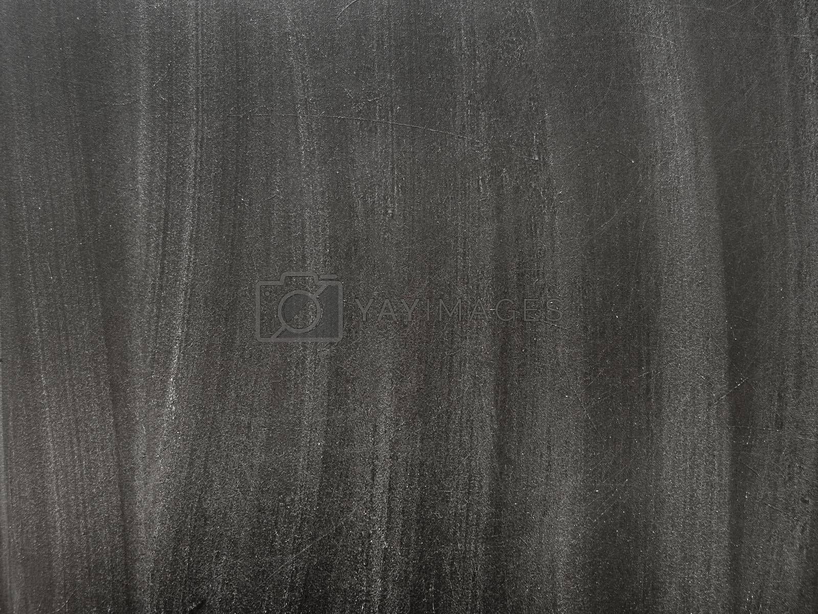 Texture of school blackboard with white chalk traces. Black dirty chalkboard. Background with copy space.