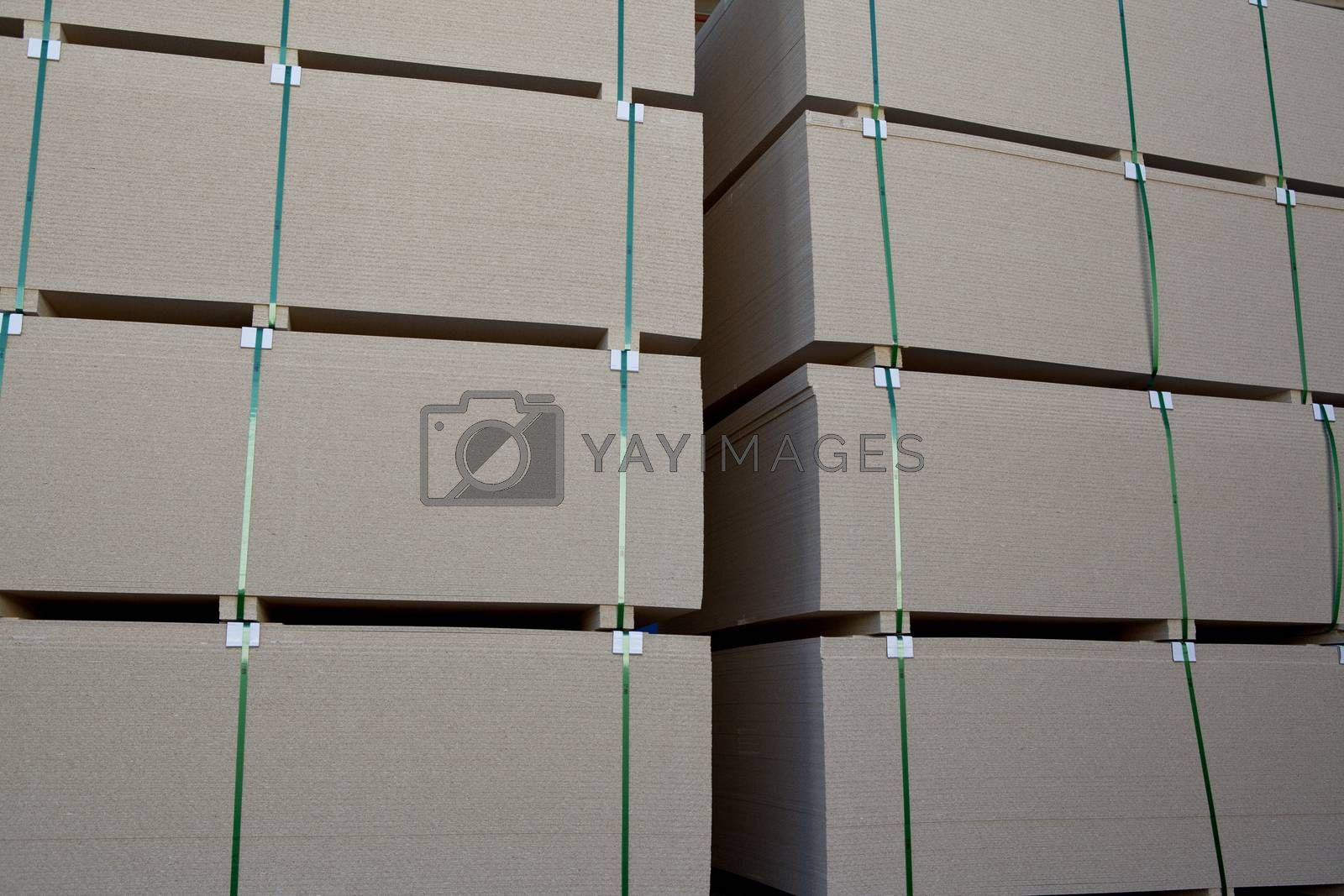Close up of luxury wooden planks in warehouse
