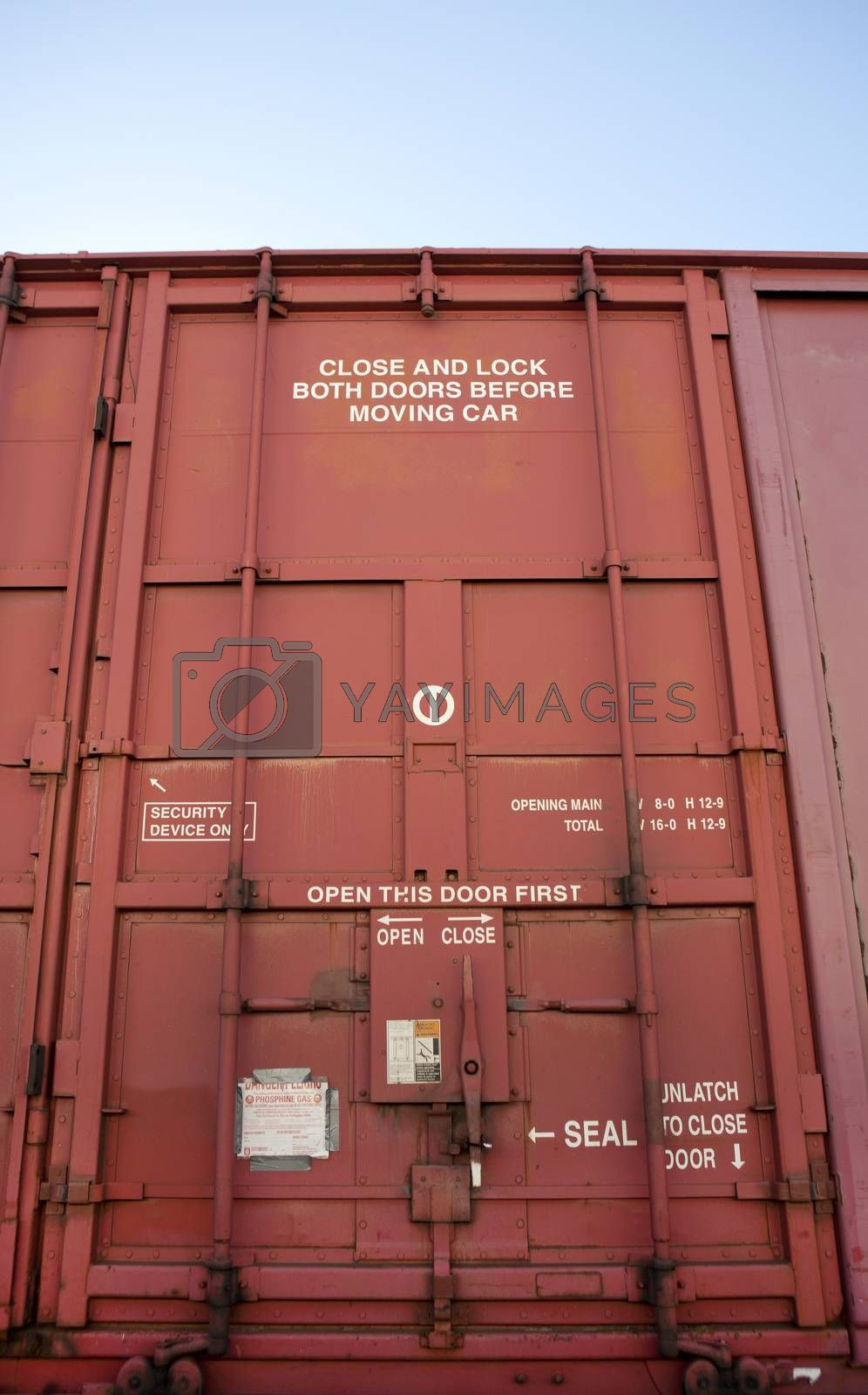 Royalty free image of Close up of Industrial railway carriage door by moodboard