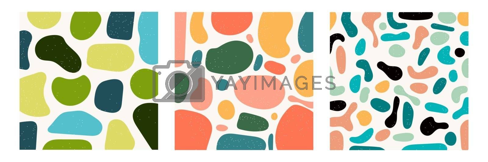 Set of hand draw various shapes and abstract contemporary modern trendy objects pattern background. Vector illustration