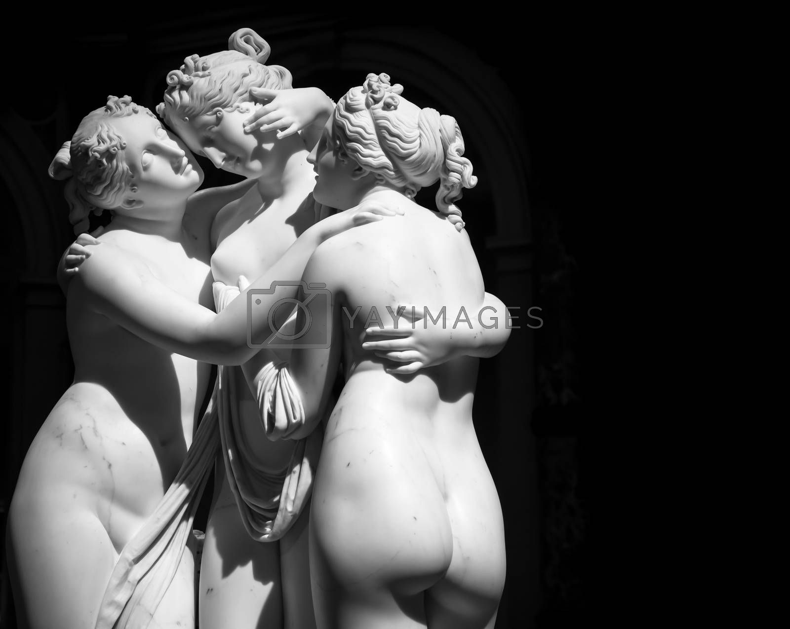 The Three Graces (Le tre grazie) by Antonio Canova by Perseomedusa