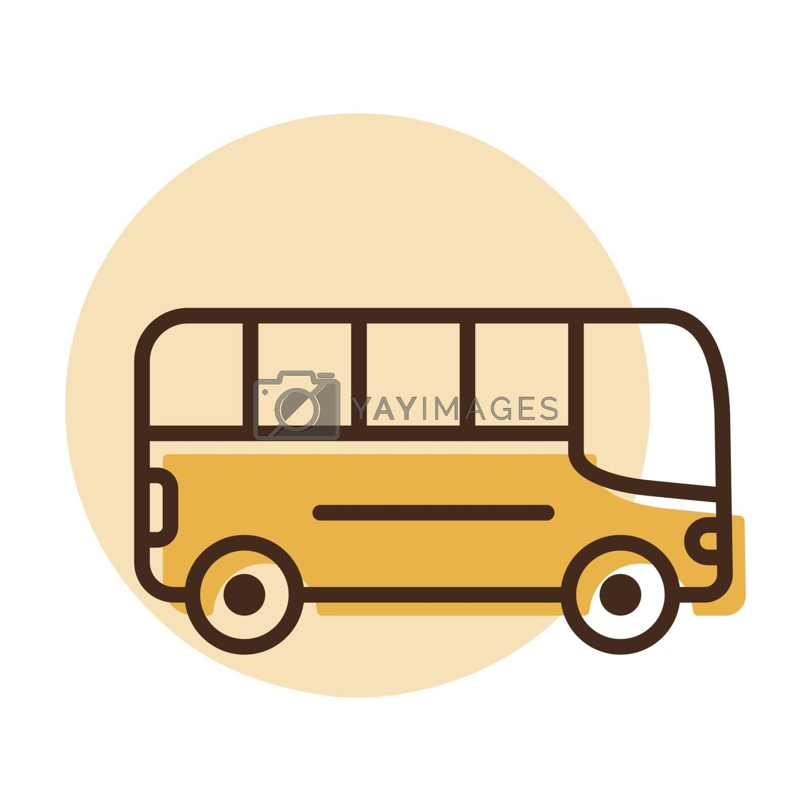 City bus flat vector icon. Graph symbol for travel and tourism web site and apps design, logo, app, UI