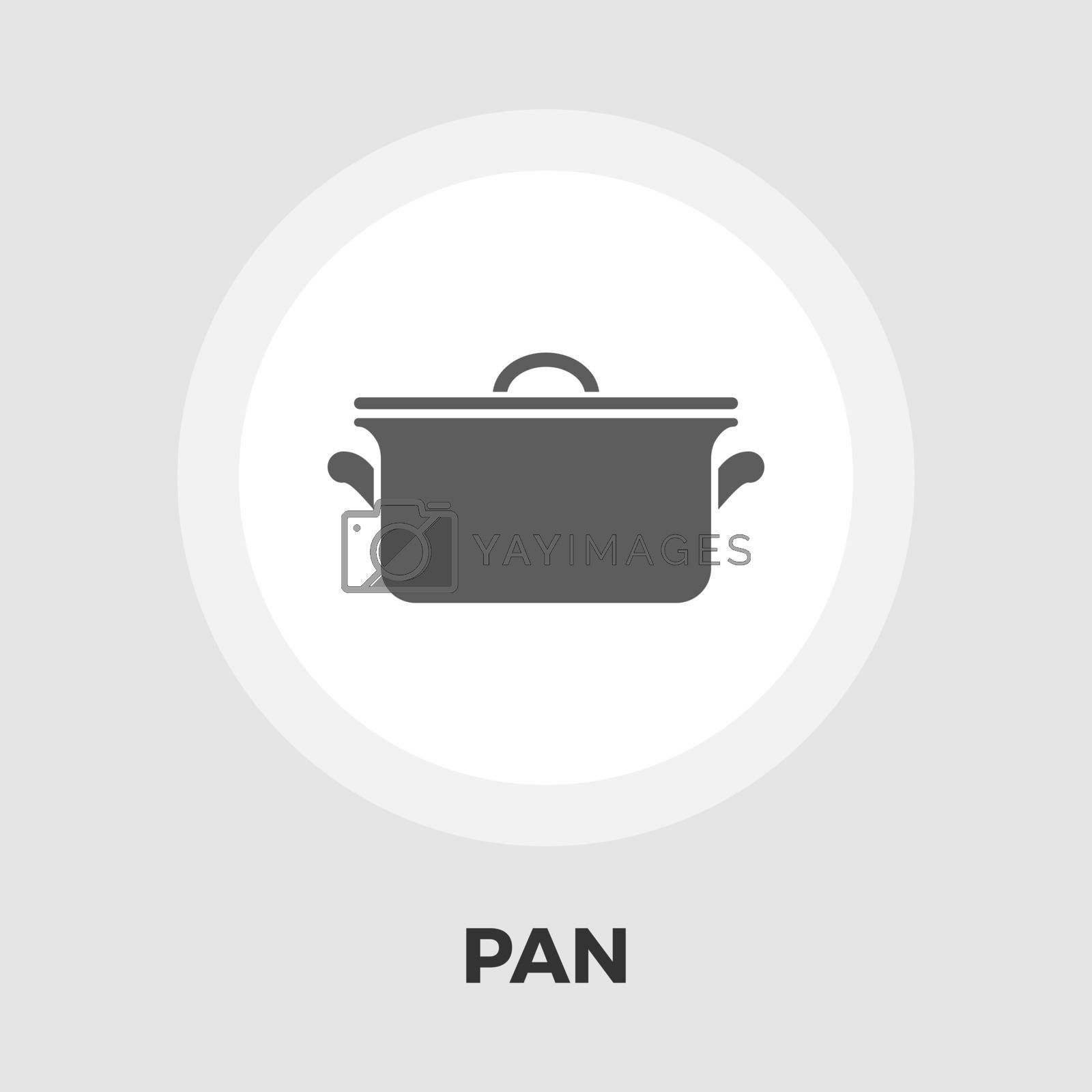 Pan icon vector. Flat icon isolated on the white background. Editable EPS file. Vector illustration.