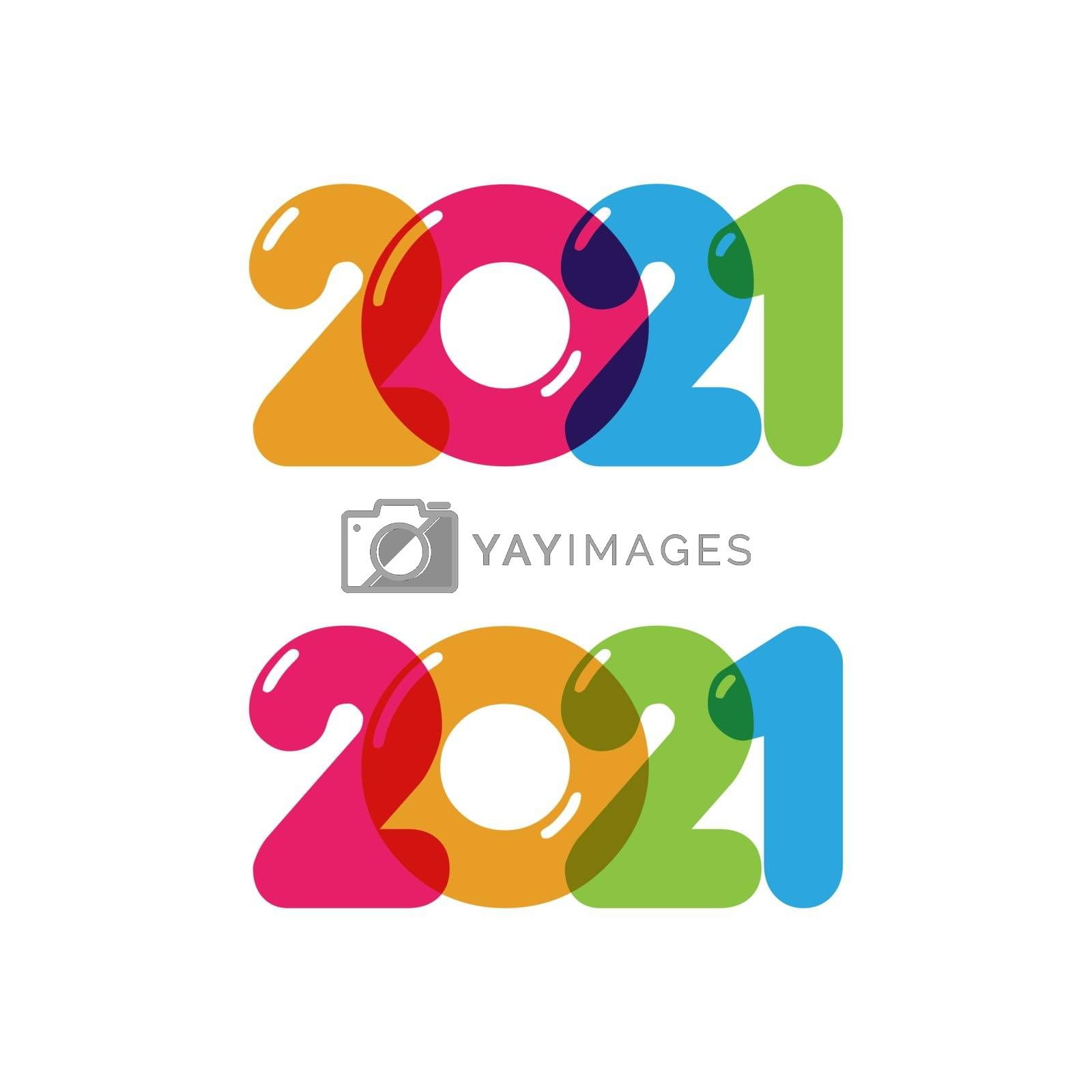 2021 new year icon vector illustration design template