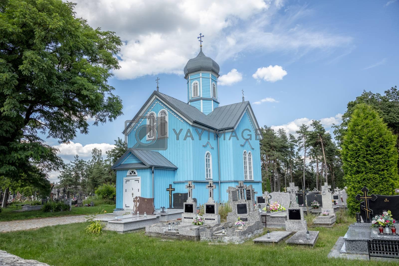 Saint George Orthodox church in Ryboly, a village in the Podlaskie Voivodeship, Poland