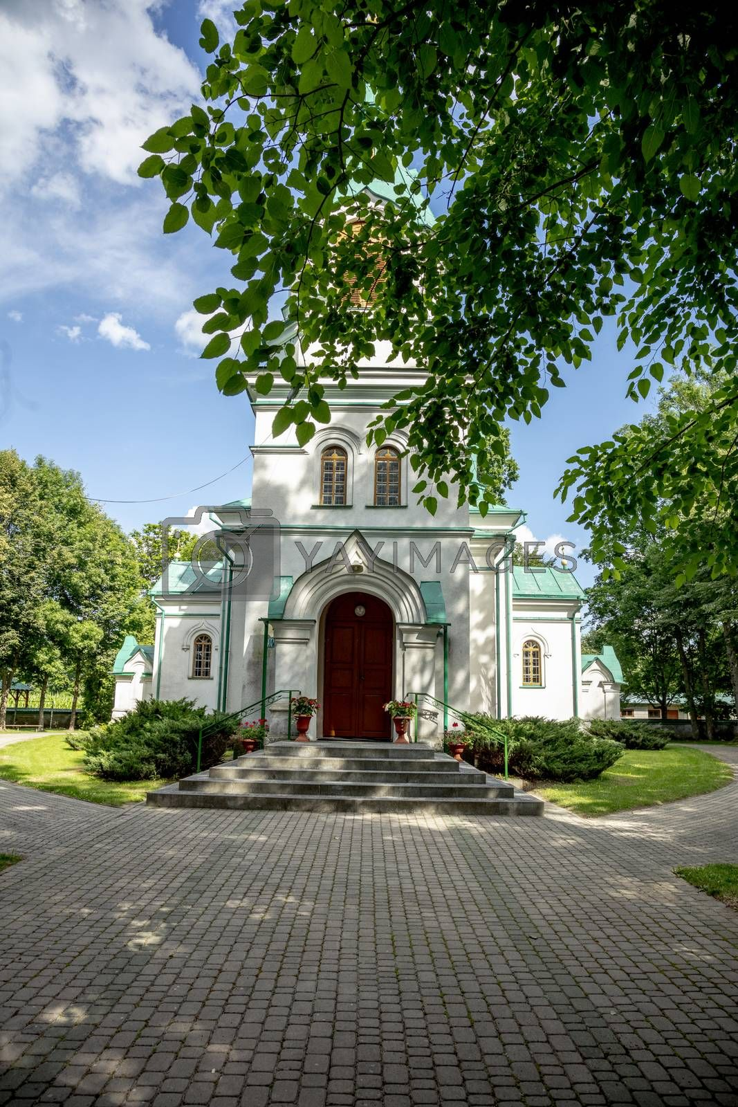 Orthodox church of Saint Kosmy and Damian in the village of Ryboly in the Podlasie region of Poland