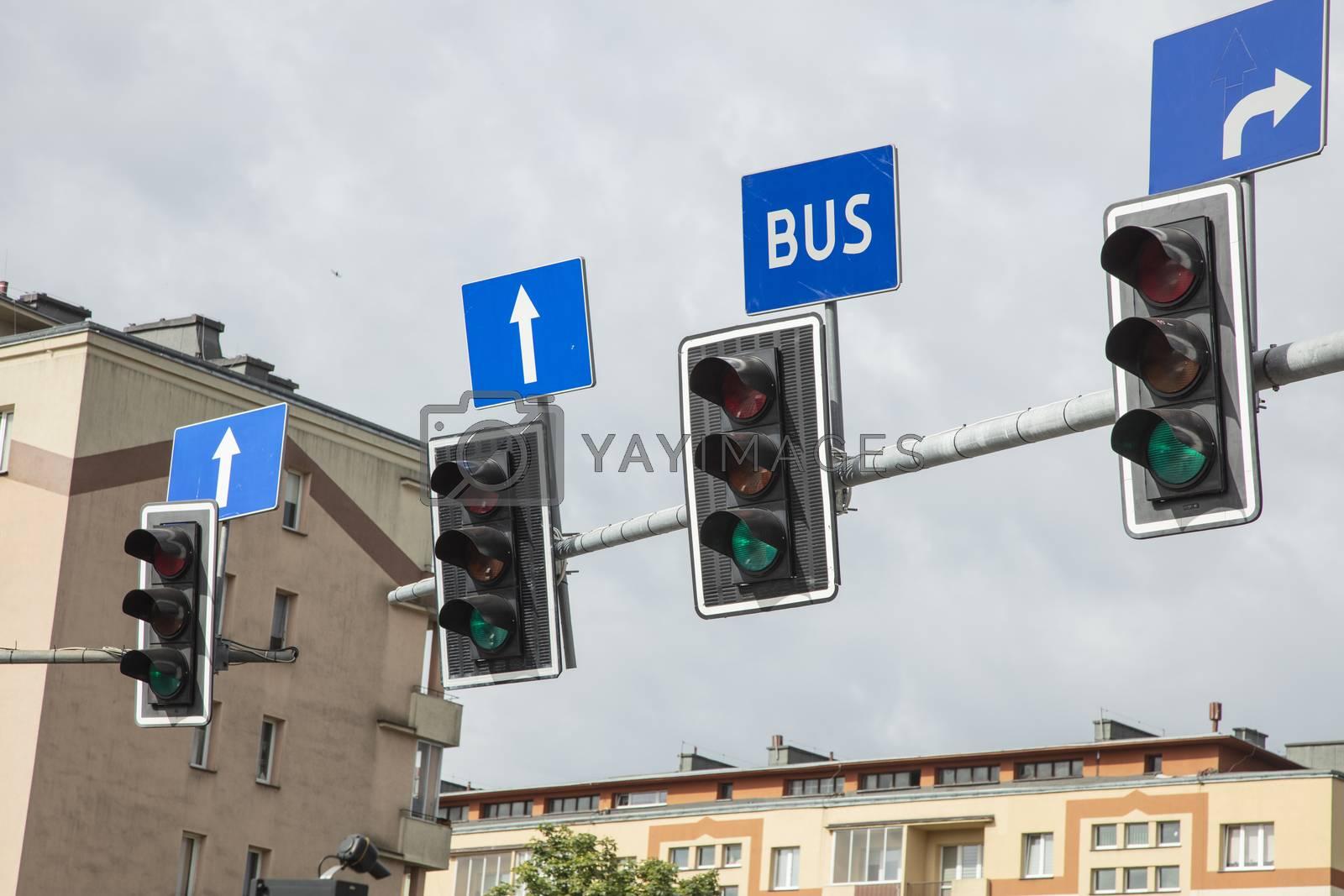 traffic lights for road traffic