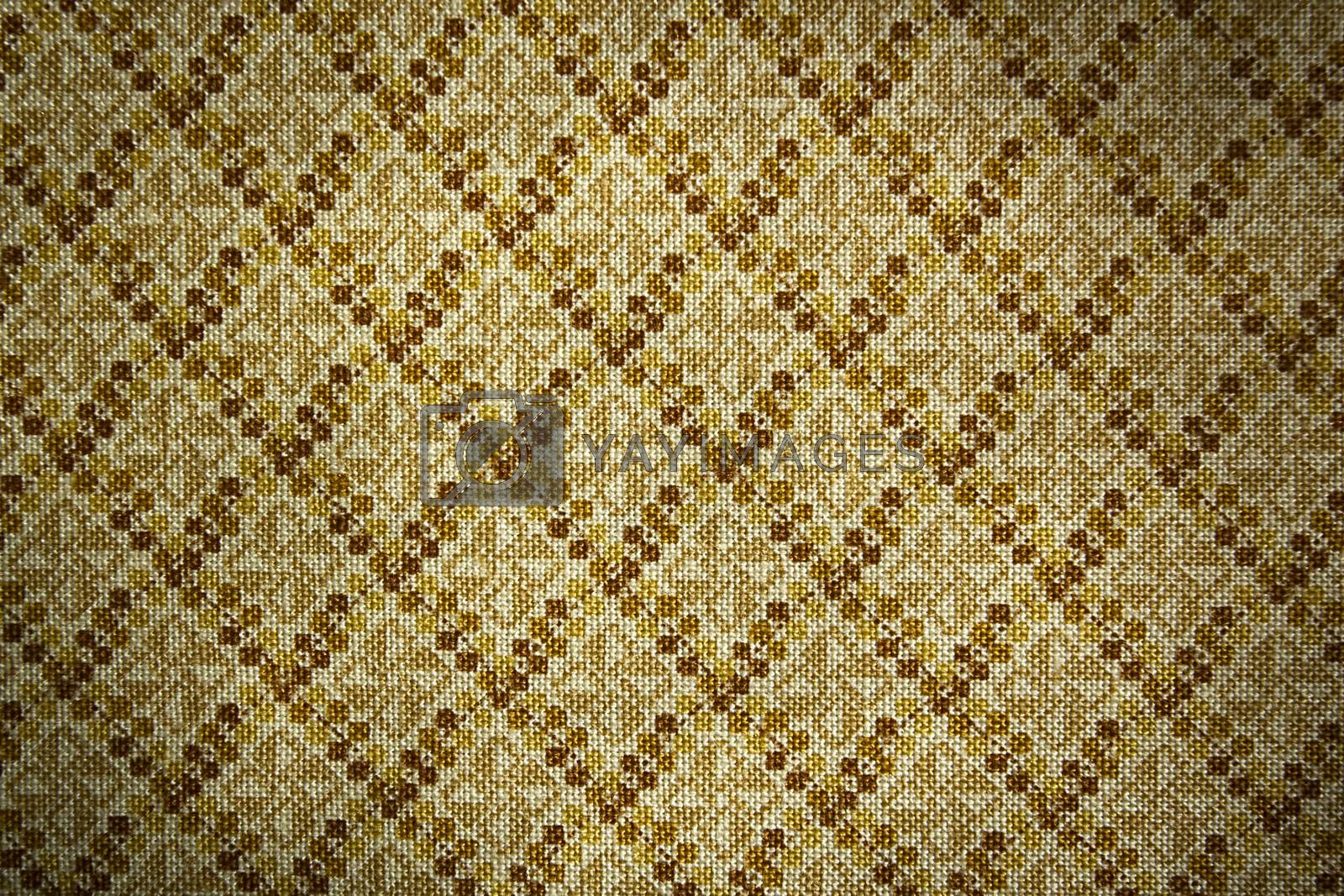 Fabric with geometric pattern as a background