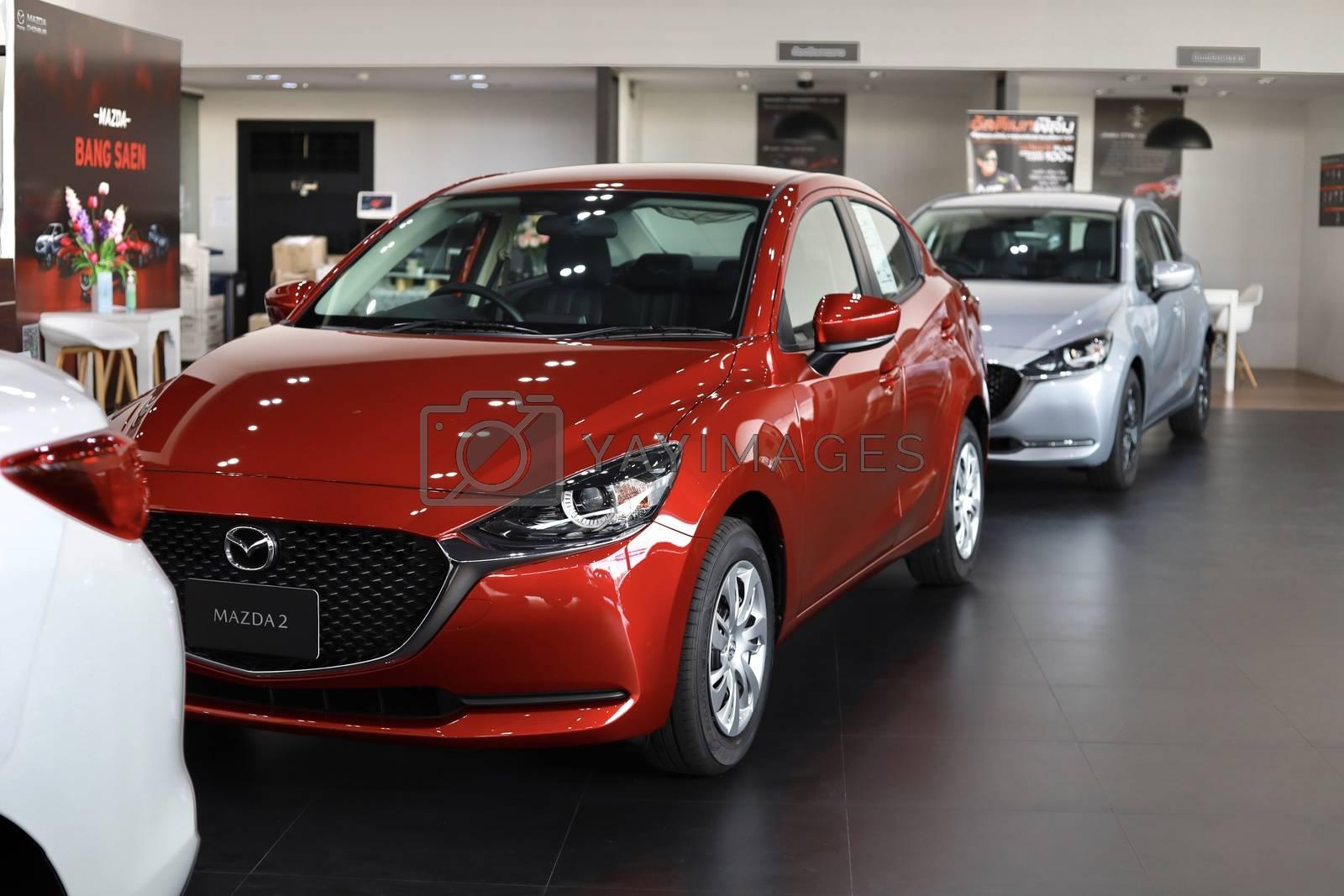 BANGSAEN,THAILAND 2020, car all new MAZDA3 MAZDA2 2020 brand jap by oatzpenzstudio