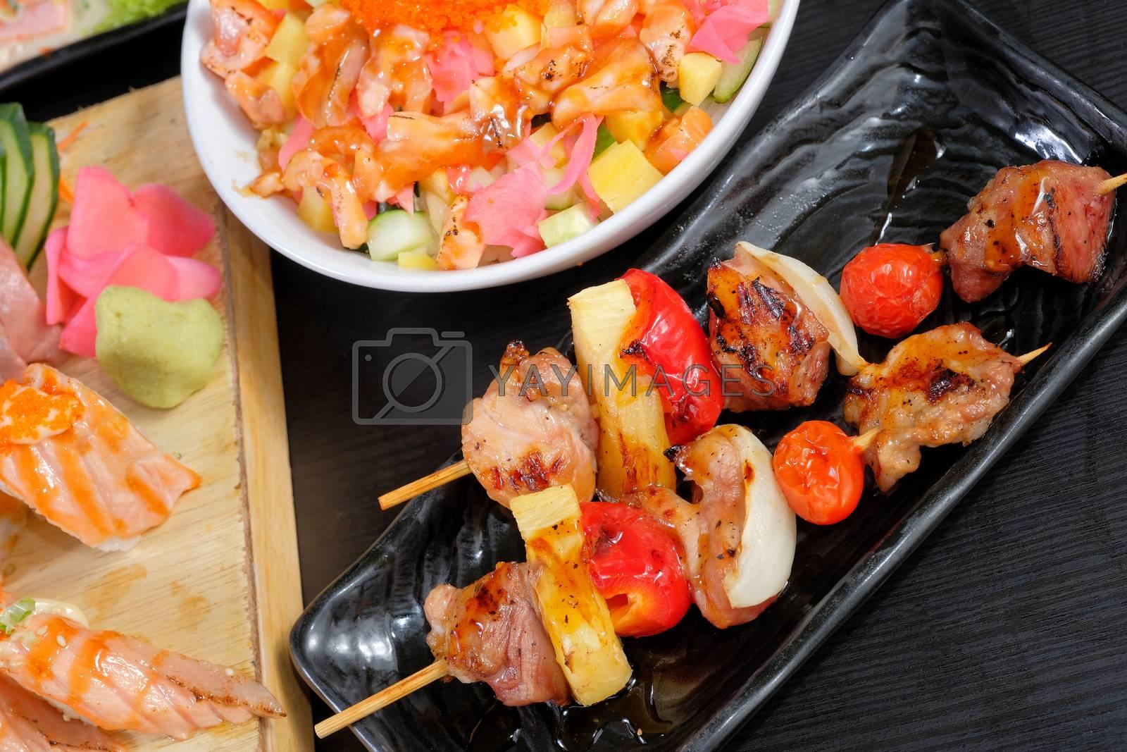 Japanese BBq pork grill