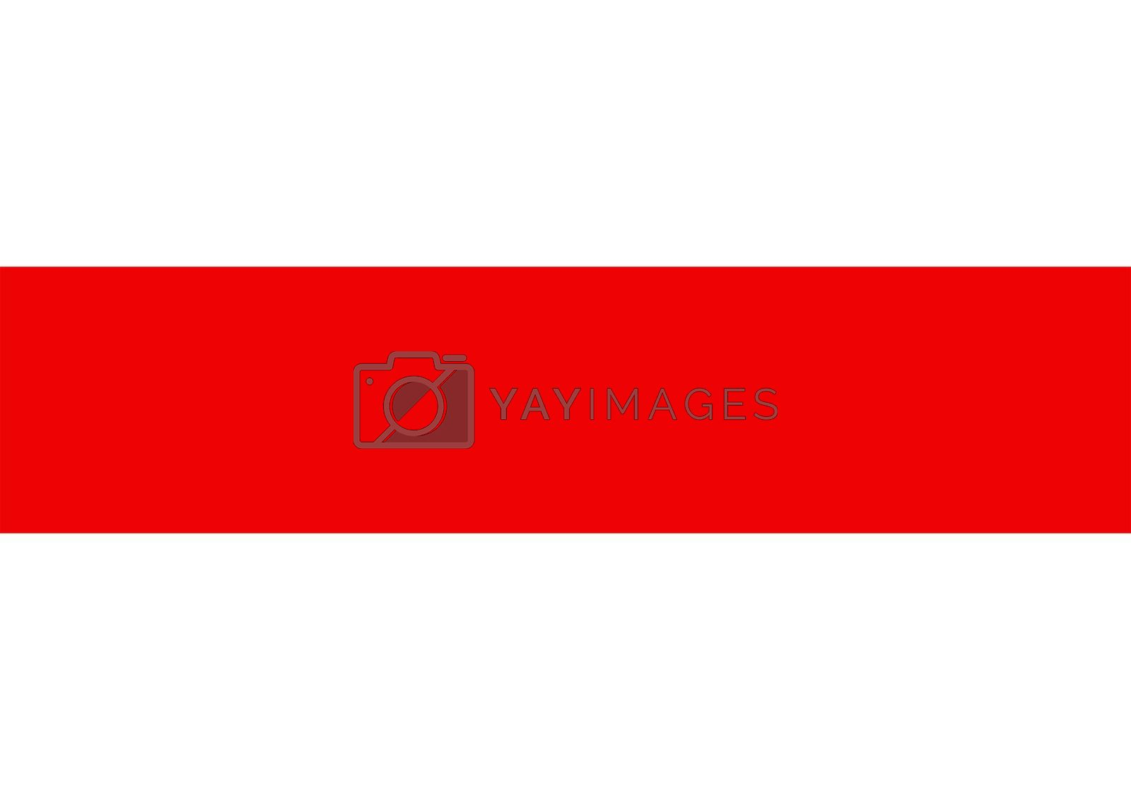 Royalty free image of Belarus protest flag by tony4urban
