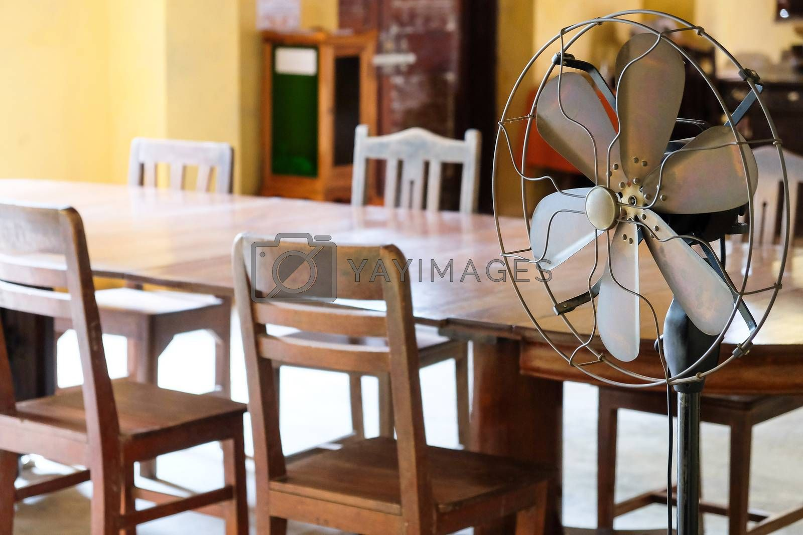 Dining Room of a ancient Thai Home Interior background