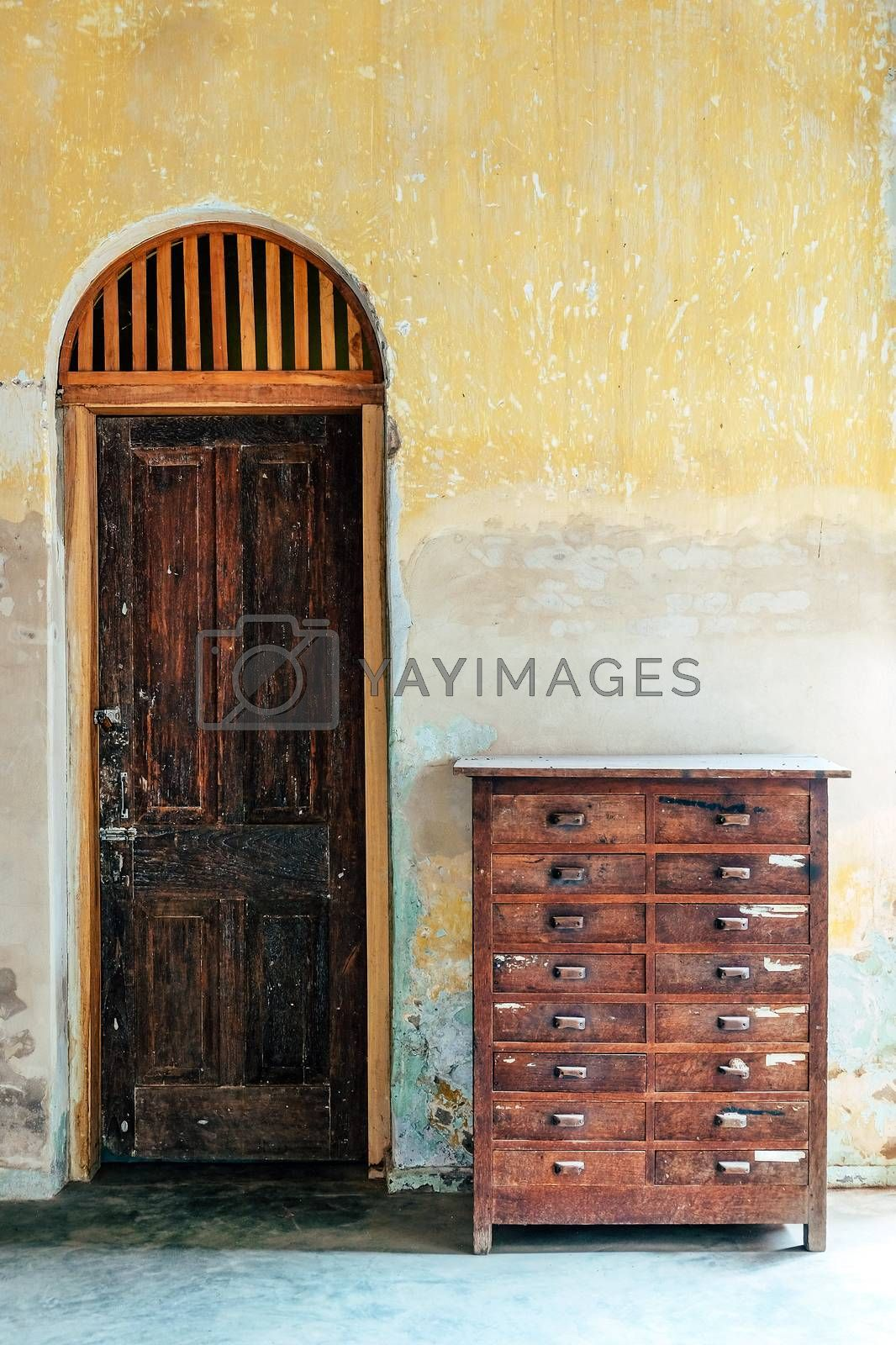 A ancient door,classical architecture building detail