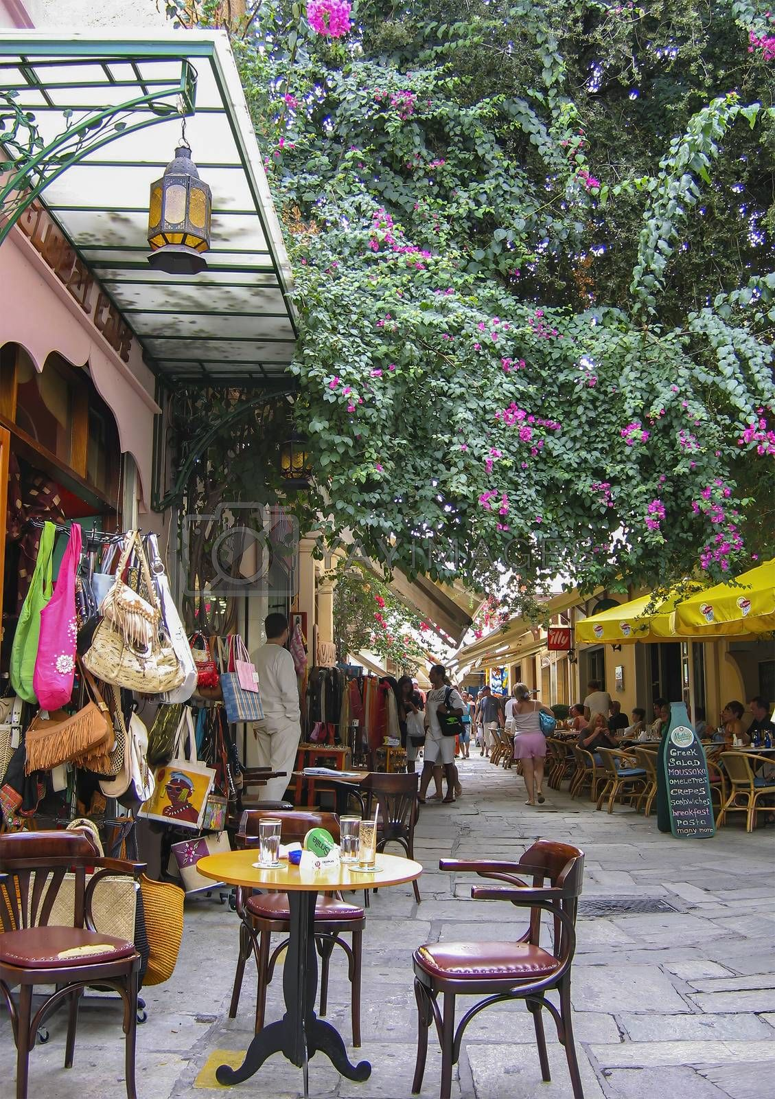 Shopping street for tourists in Kos town