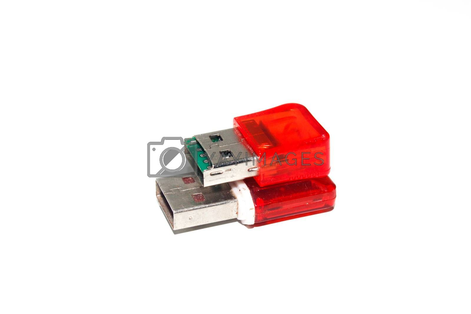 A picture of pen drive on white background