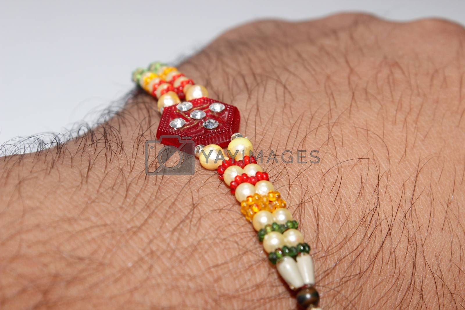 A picture of hand bracelets with selected focus