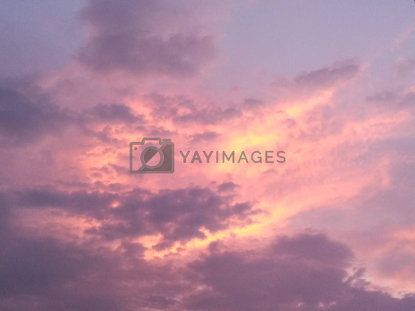 A picture of clouds with selected focus