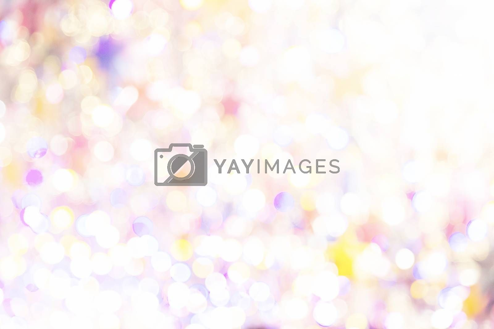 Blurry abstract background with bokeh defocused lights