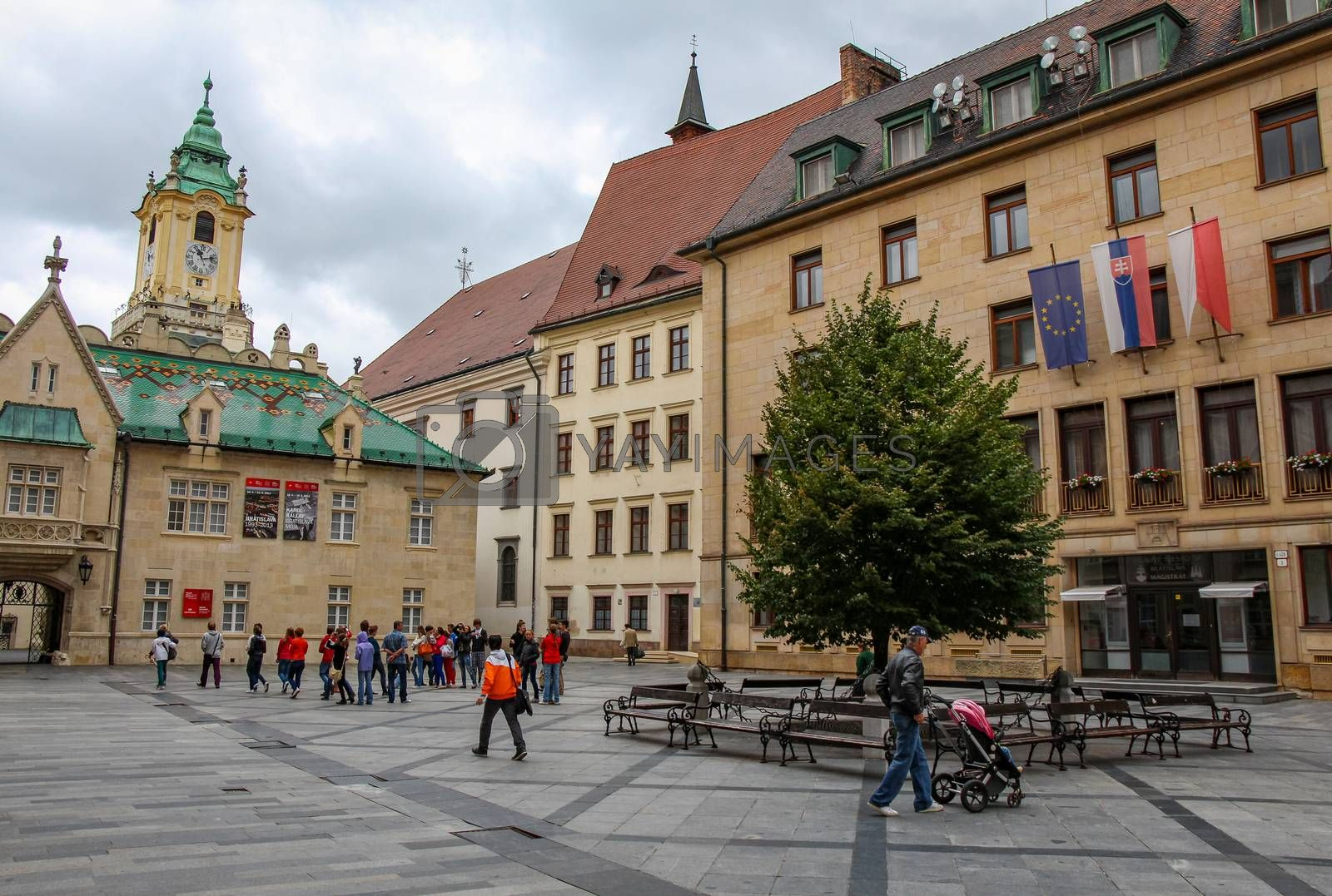 Primate's Square in the old town of Bratislava, Slovakia by SnapTPhotography